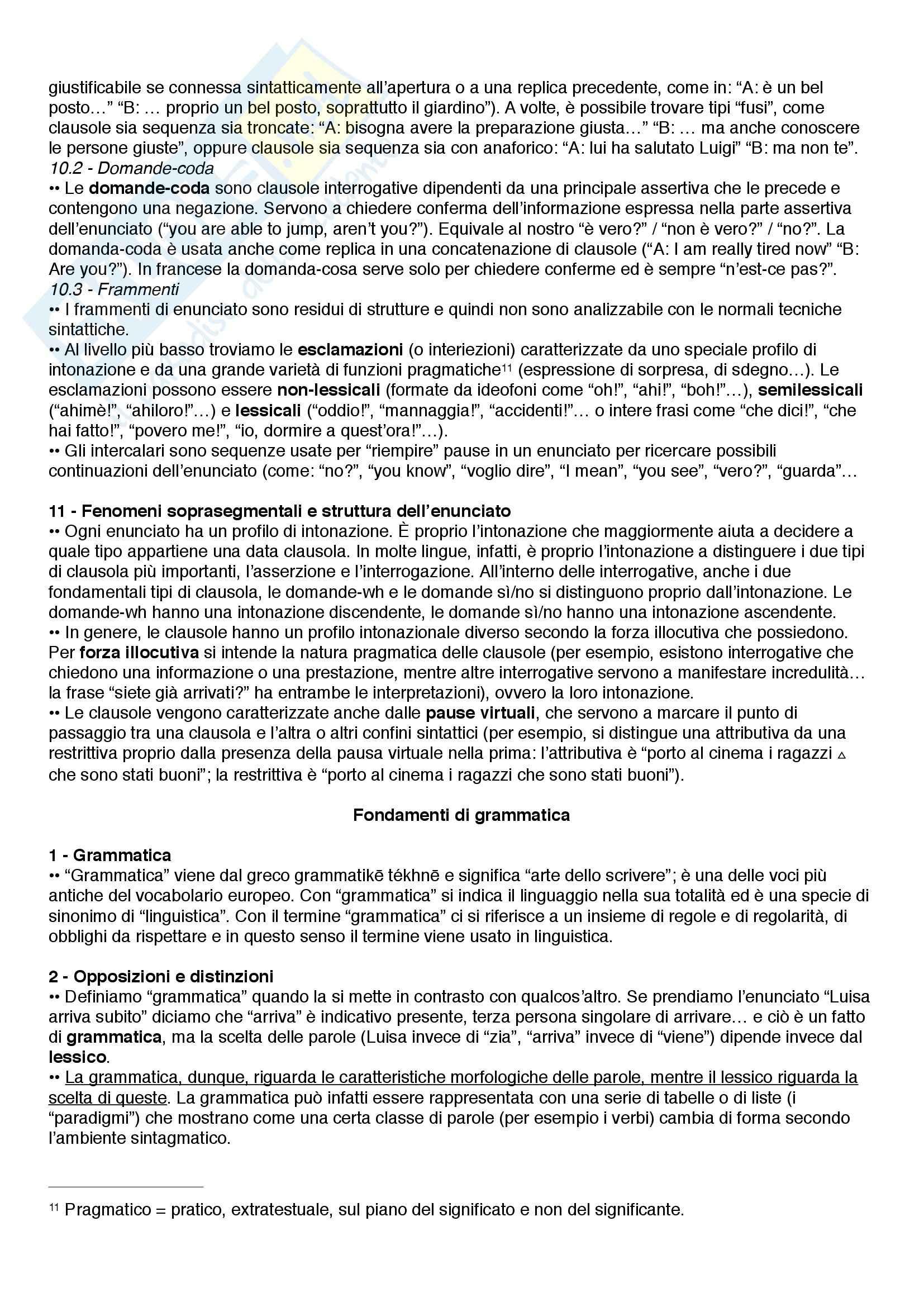 Riassunto esame Linguistica, prof. Catricalà, libro consigliato Nuovi fondamenti di linguistica, Simone Pag. 31