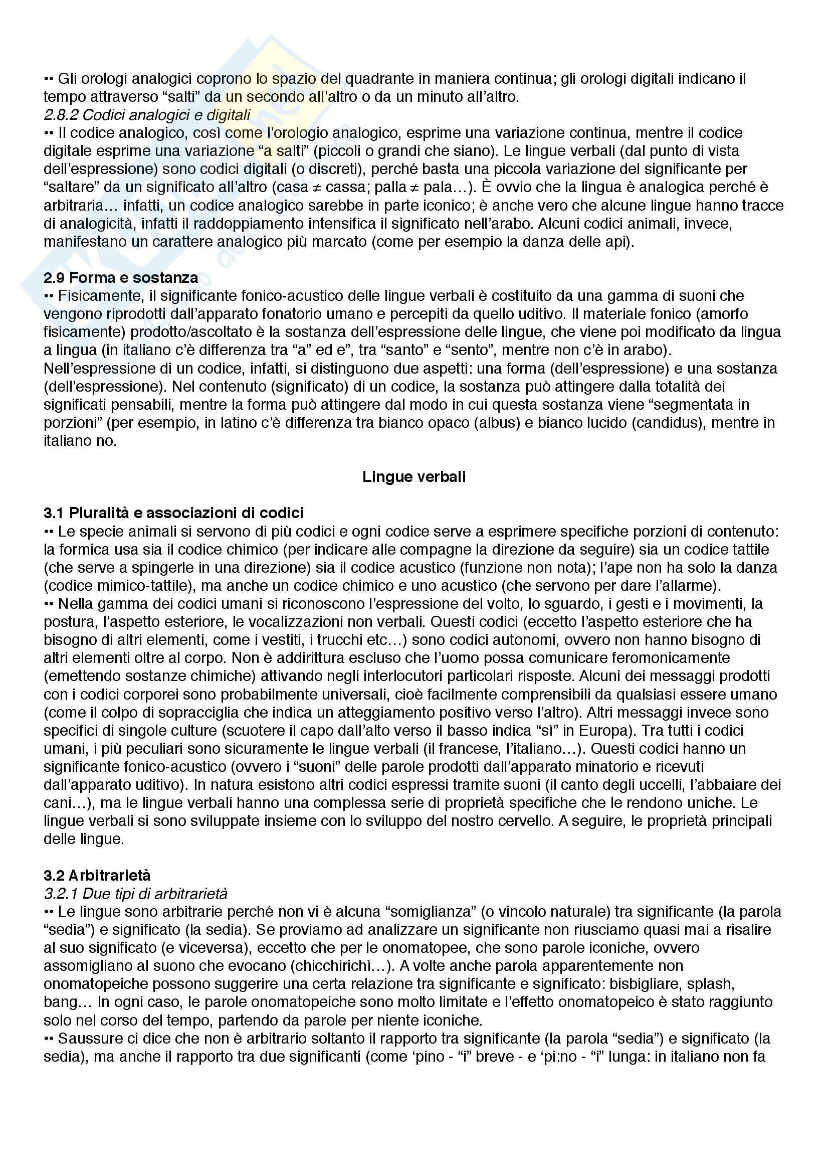 Riassunto esame Linguistica, prof. Catricalà, libro consigliato Nuovi fondamenti di linguistica, Simone Pag. 6
