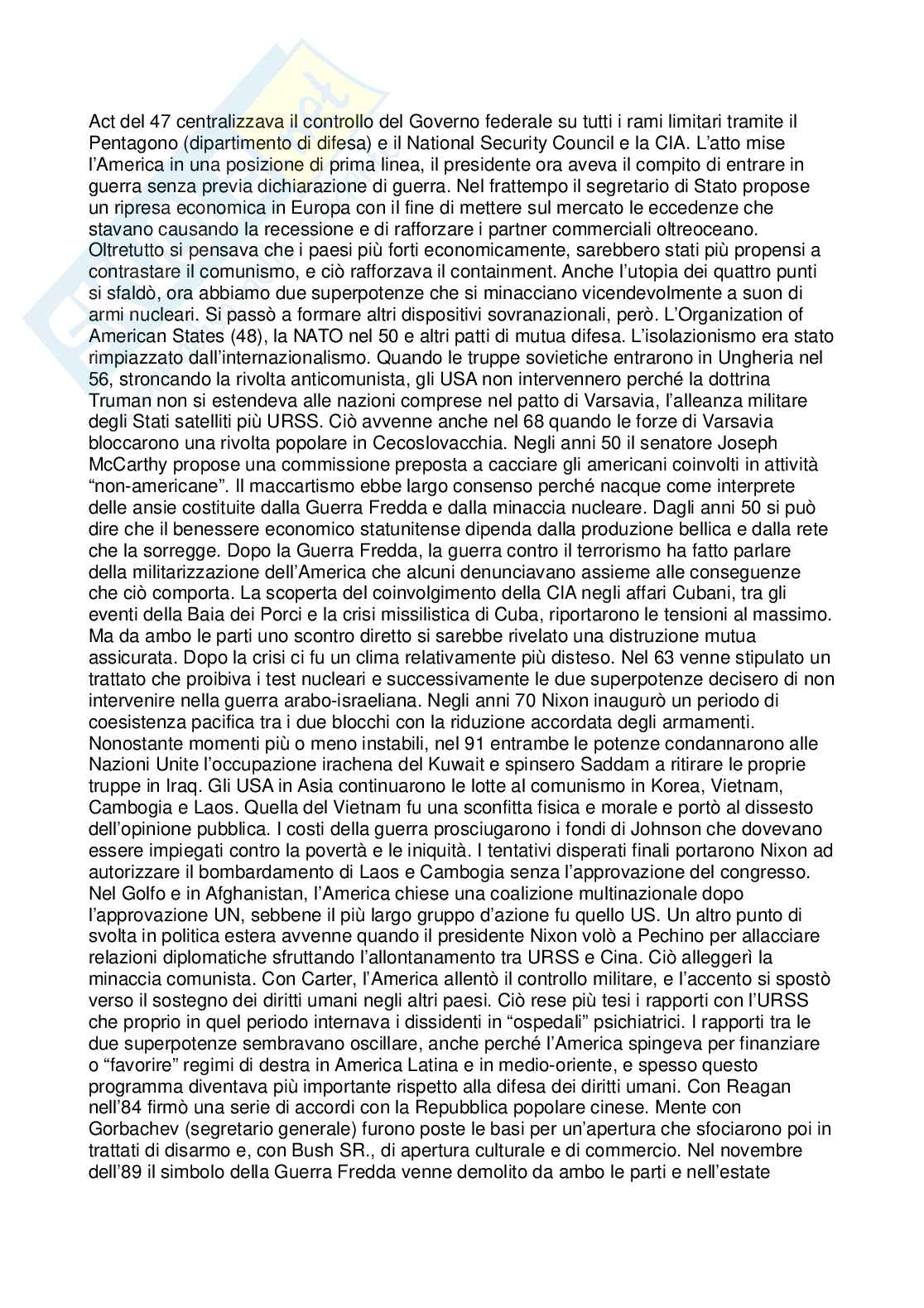 Riassunto esame Cultura dei Paesi anglofoni, prof. Vizzaccaro, libro consigliato American Civilization: An Introduction, Mauk, Oakland Pag. 31