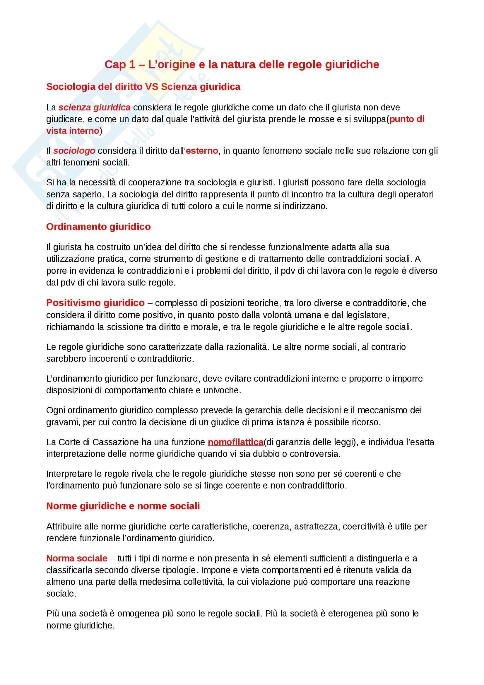 Riassunto esame diritto, prof. Dameno, libro consigliato Guida al Diritto Contemporaneo, Pocar