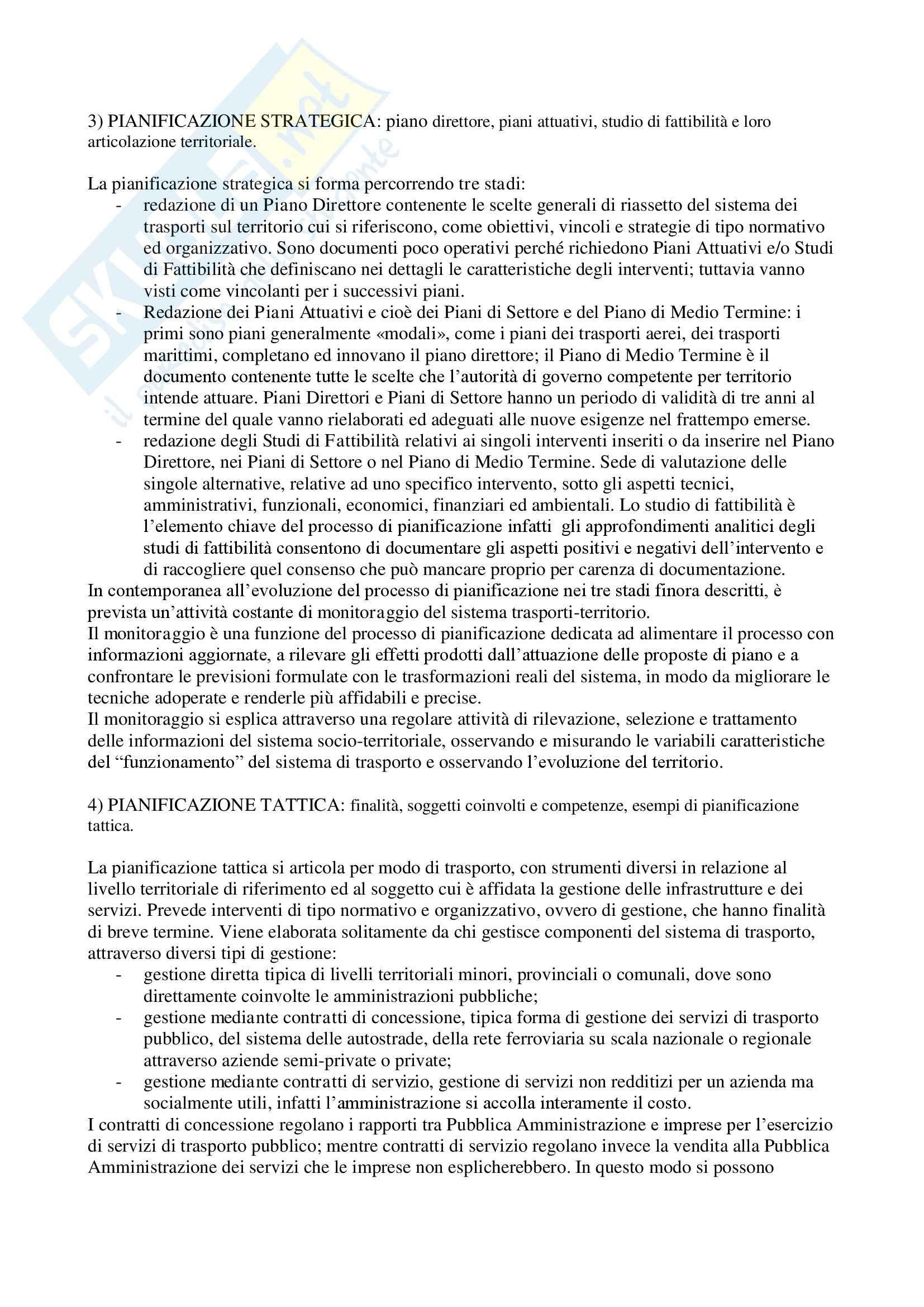 Pianificazione dei trasporti - Risposte Pag. 2