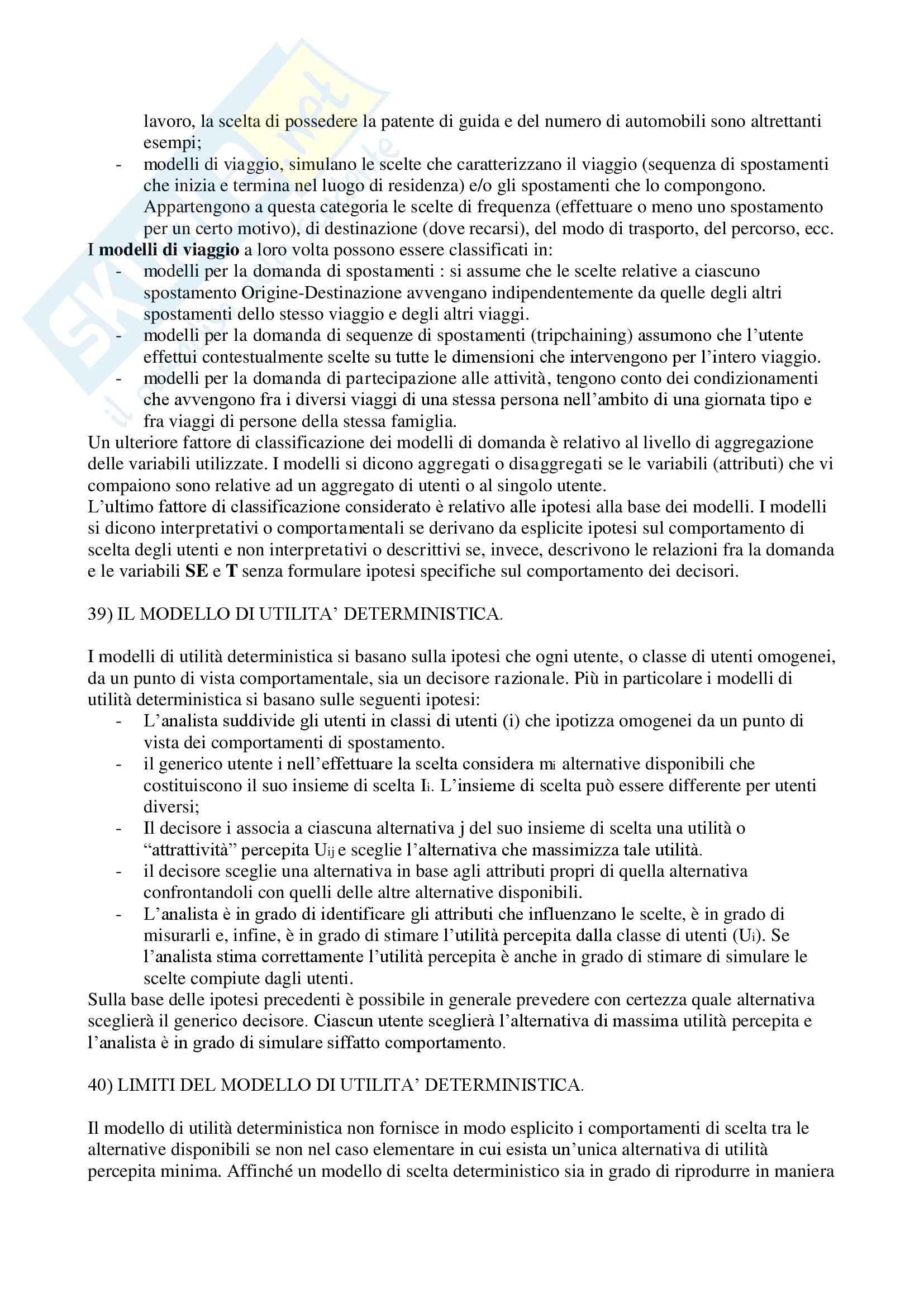Pianificazione dei trasporti - Risposte Pag. 26