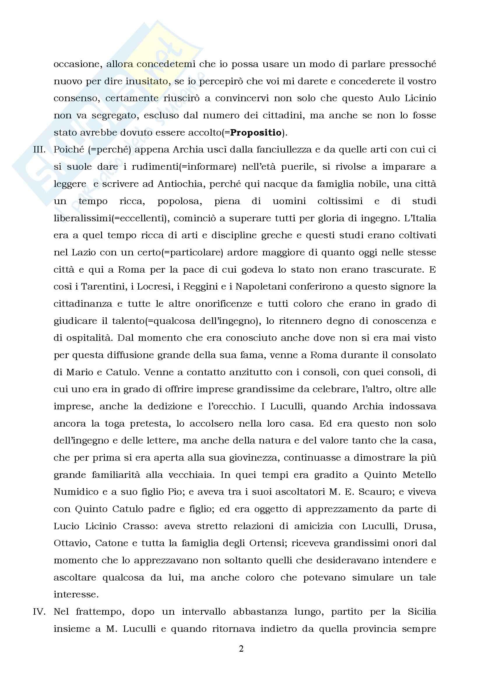Letteratura latina - il Pro Archia Pag. 2