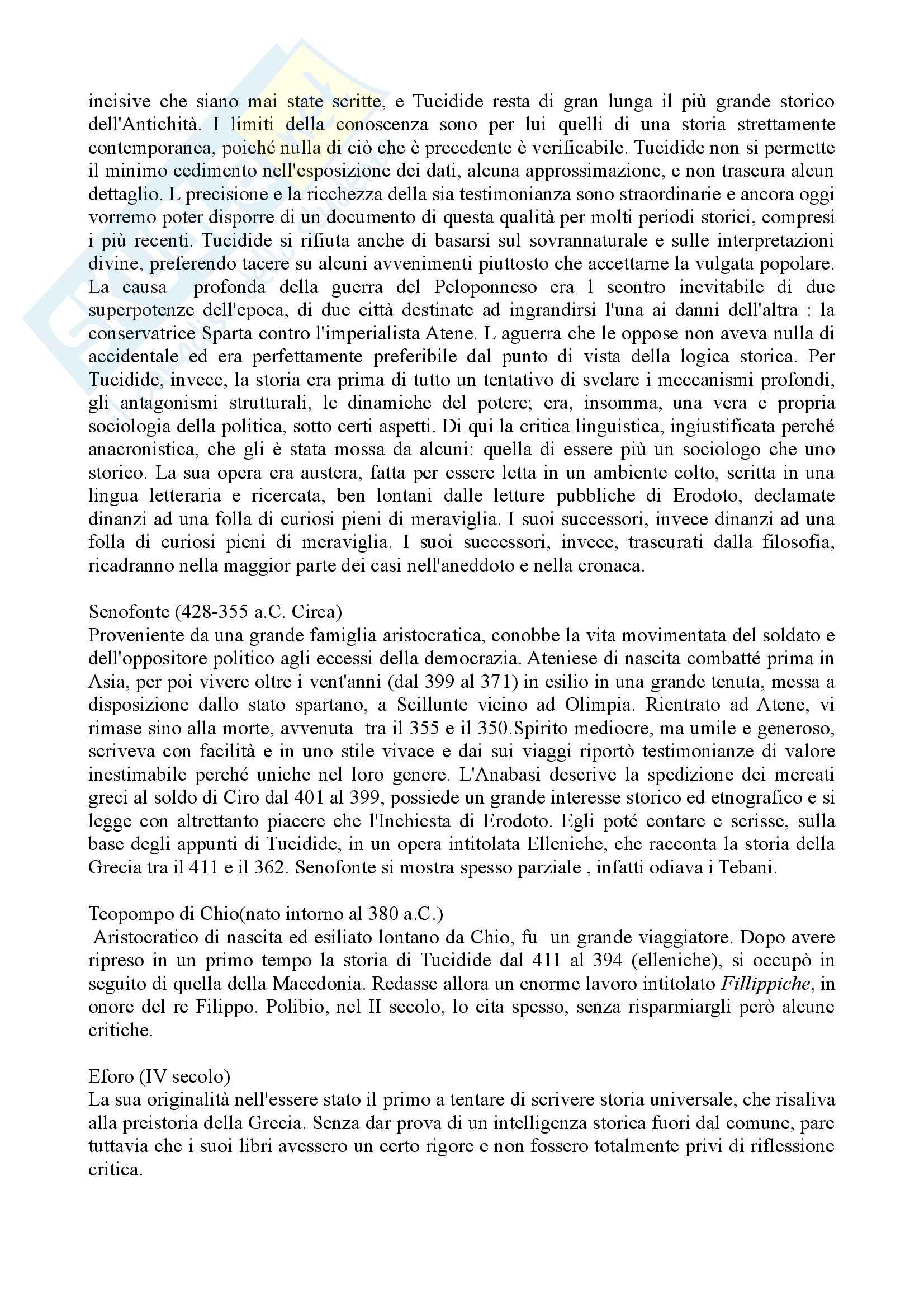 Riassunto esame storia greca, Prof. Tempio Pag. 6