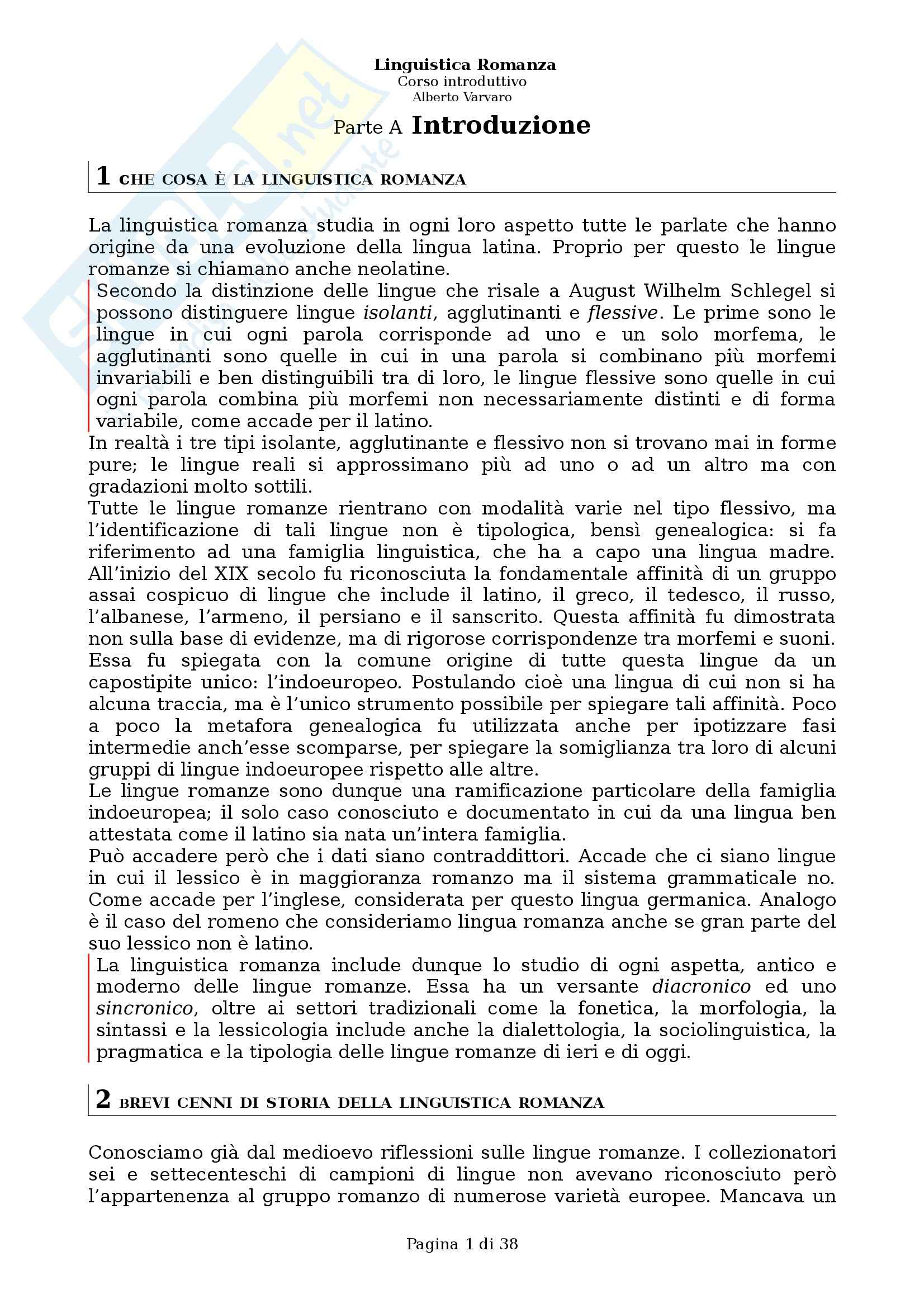 appunto A. Radaelli Fondamenti di filologia e linguistica romanza
