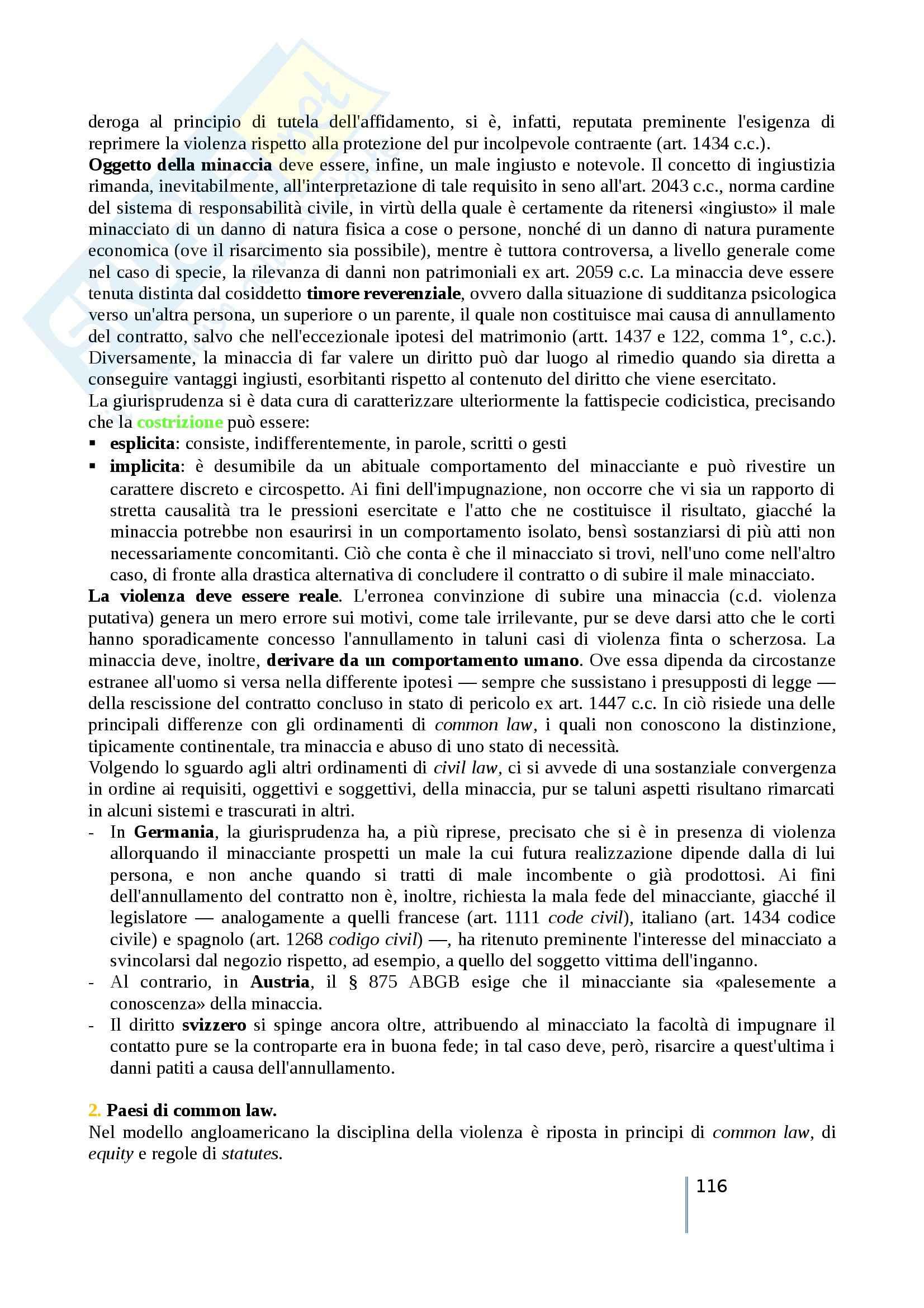 Riassunto esame diritto privato comparato, prof. Timoteo, libro consigliato Atlante di diritto privato comparato, Galgano, Ferrari, Ajani Pag. 116
