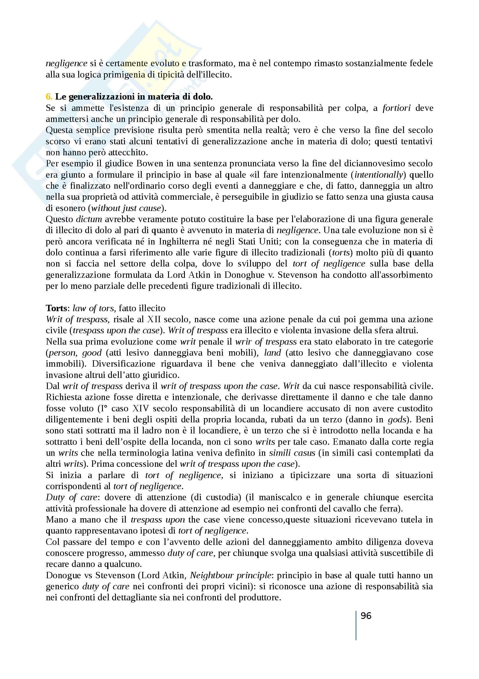 Riassunto esame diritto privato comparato, prof. Timoteo, libro consigliato Atlante di diritto privato comparato, Galgano, Ferrari, Ajani Pag. 96