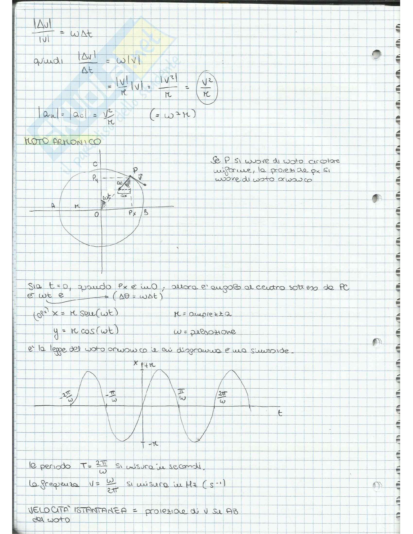 Appunti di Fisica Applicata (cinematica, dinamica, moto circolare, gravitazione, lavoro, quantità di moto, moto rotatorio, equilibrio) Pag. 16