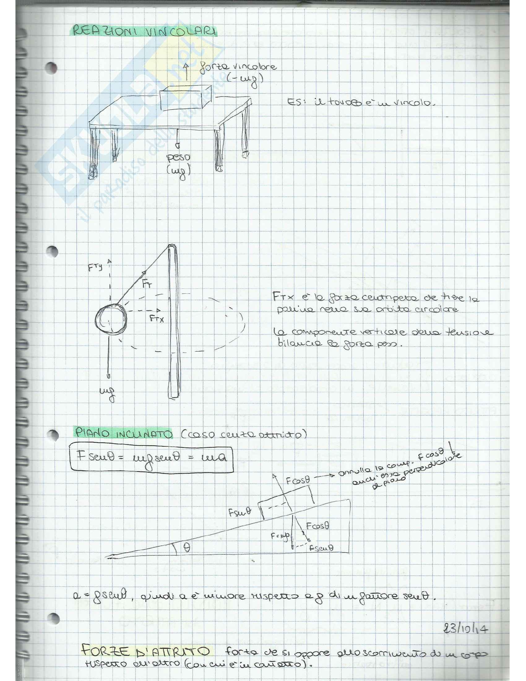 Appunti di Fisica Applicata (cinematica, dinamica, moto circolare, gravitazione, lavoro, quantità di moto, moto rotatorio, equilibrio) Pag. 21
