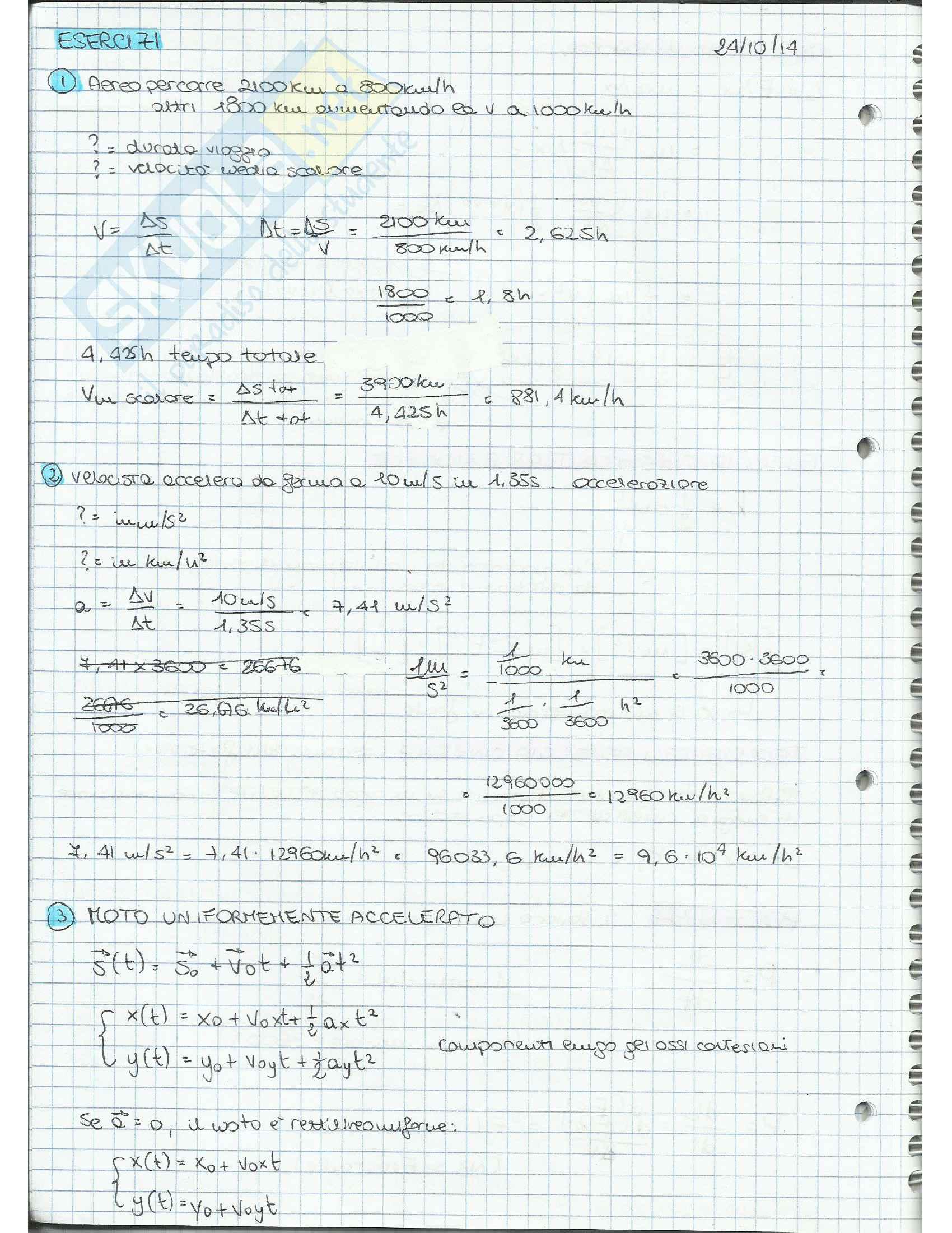 Appunti di Fisica Applicata (cinematica, dinamica, moto circolare, gravitazione, lavoro, quantità di moto, moto rotatorio, equilibrio) Pag. 26