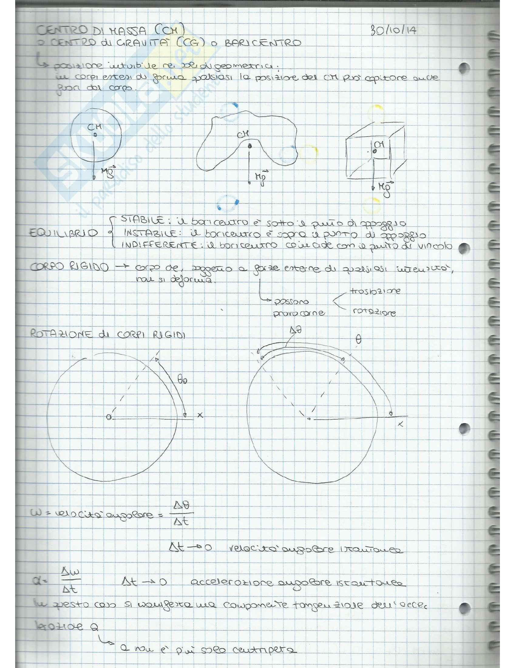 Appunti di Fisica Applicata (cinematica, dinamica, moto circolare, gravitazione, lavoro, quantità di moto, moto rotatorio, equilibrio) Pag. 36