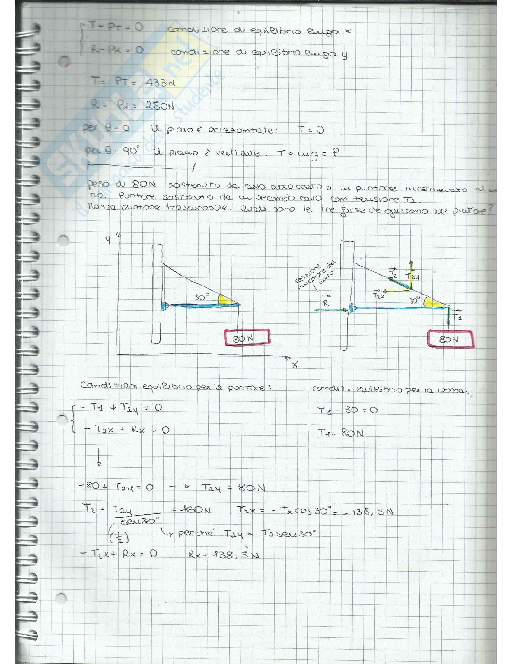 Appunti di Fisica Applicata (cinematica, dinamica, moto circolare, gravitazione, lavoro, quantità di moto, moto rotatorio, equilibrio) Pag. 41