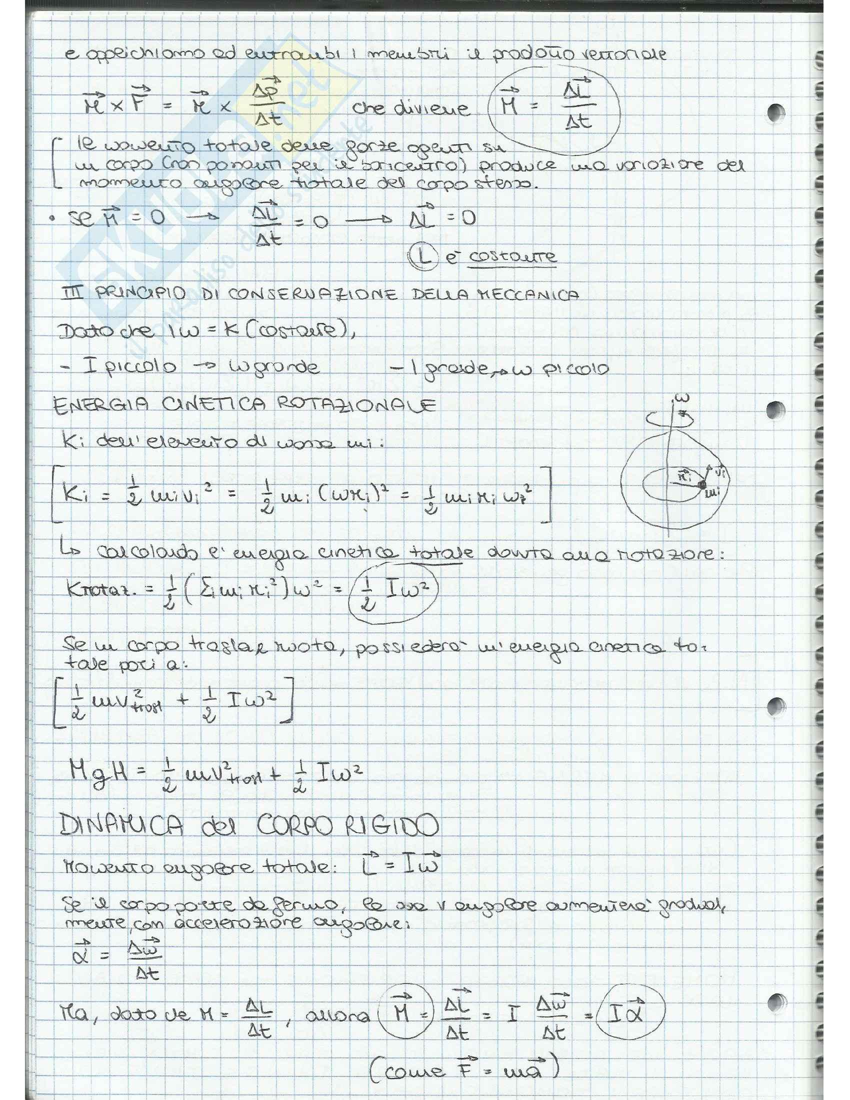 Appunti di Fisica Applicata (cinematica, dinamica, moto circolare, gravitazione, lavoro, quantità di moto, moto rotatorio, equilibrio) Pag. 46