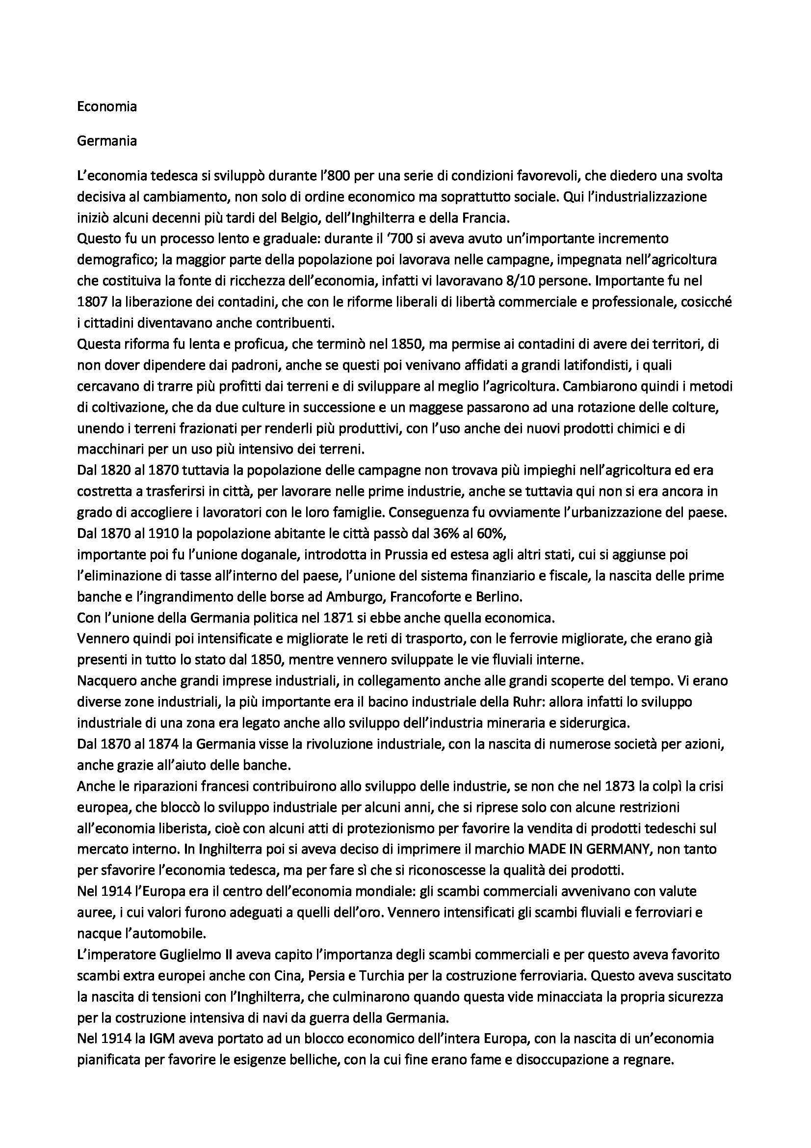 Riassunto esame Lingua tedesca, prof. Piccardo, libro consigliato Paesi di lingua tedesca: economia, Destro