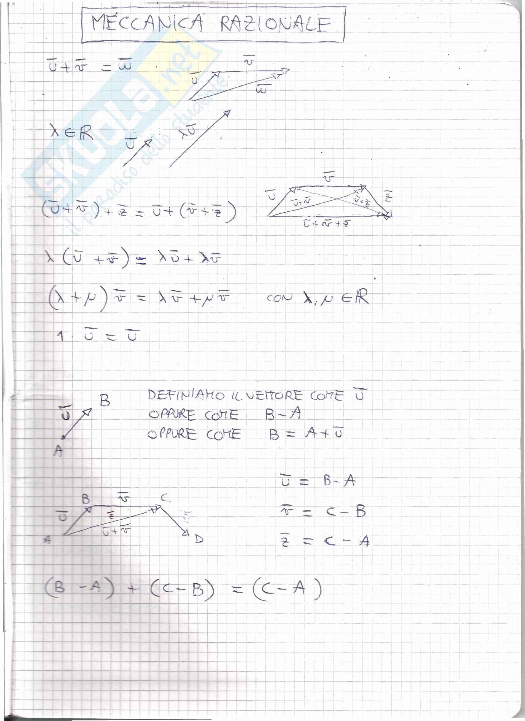 Meccanica Razionale T - Appunti