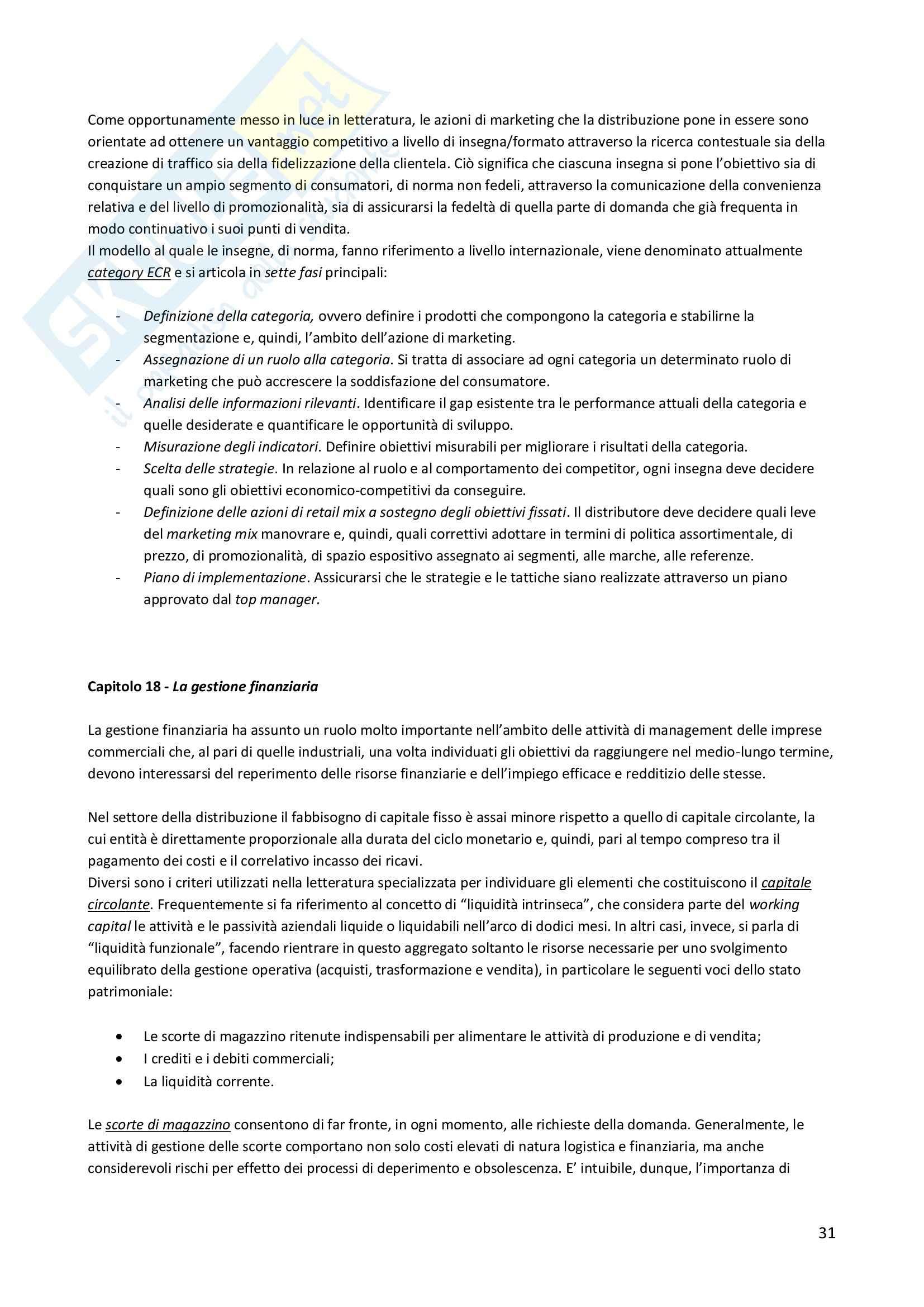 Riassunto esame Economia, prof. Cugno, libro consigliato Management della distribuzione, Sciarelli Pag. 31