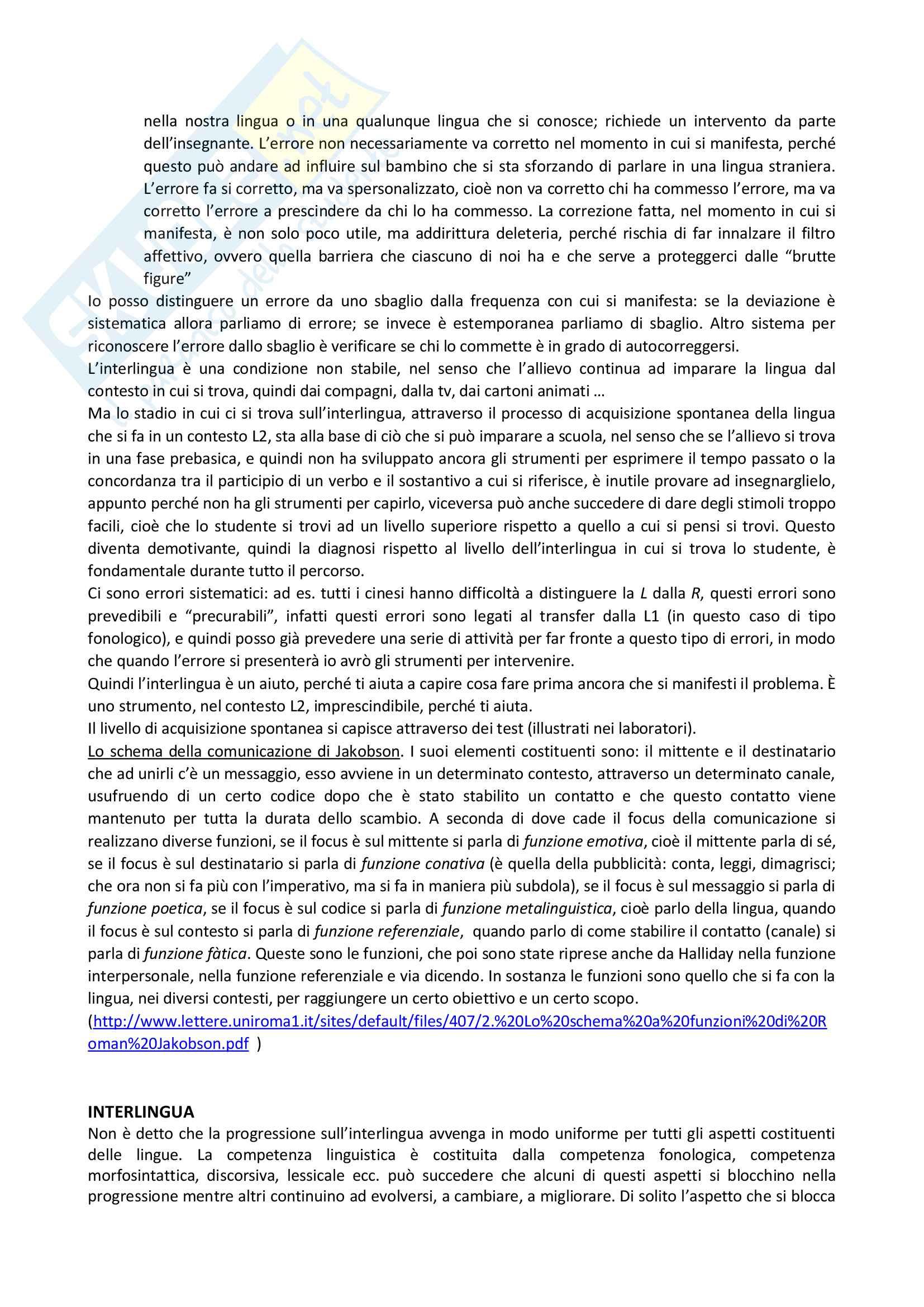 Appunti delle lezioni di Didattica dell'italiano L2 prof Santipolo Pag. 11
