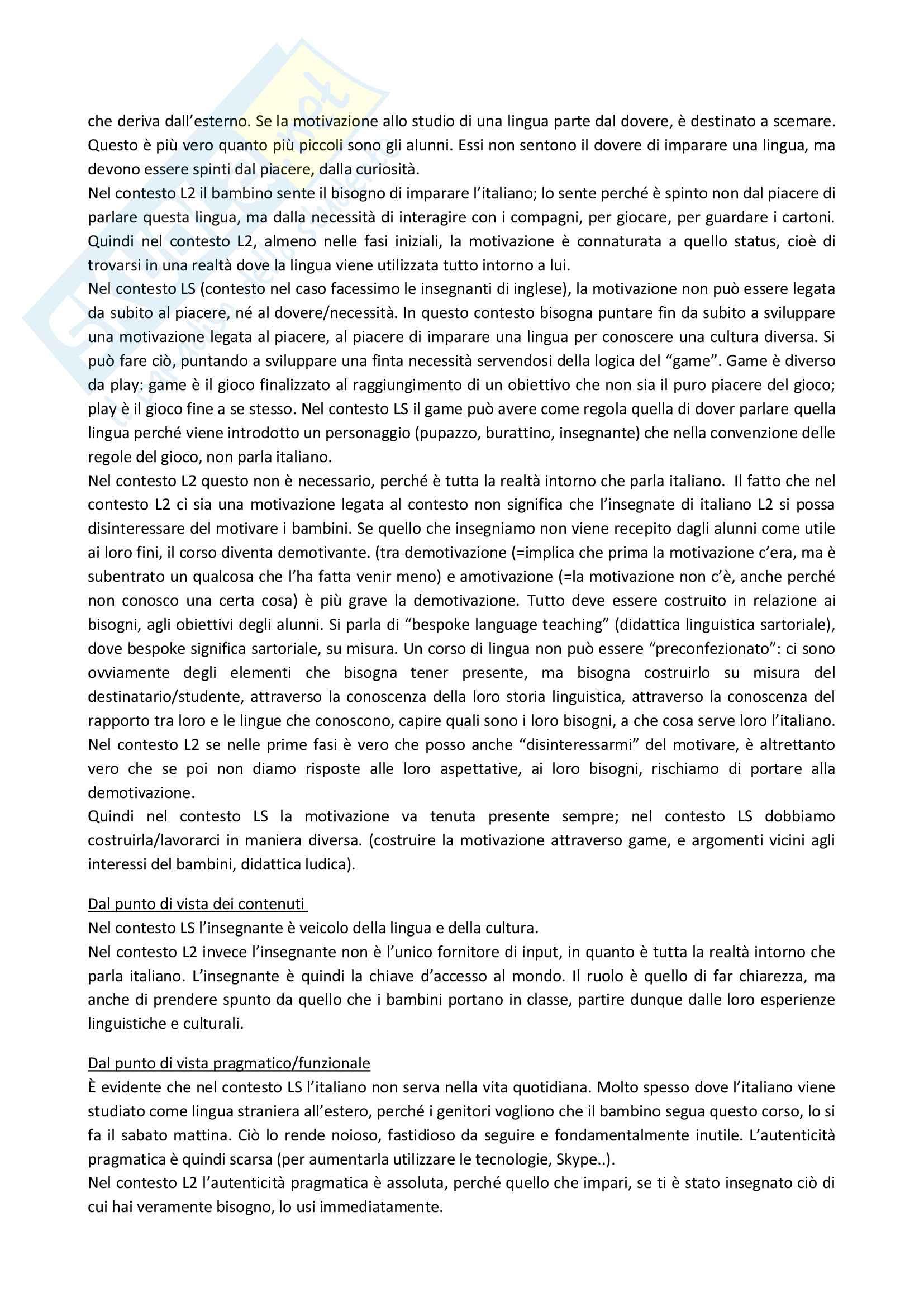 Appunti delle lezioni di Didattica dell'italiano L2 prof Santipolo Pag. 16