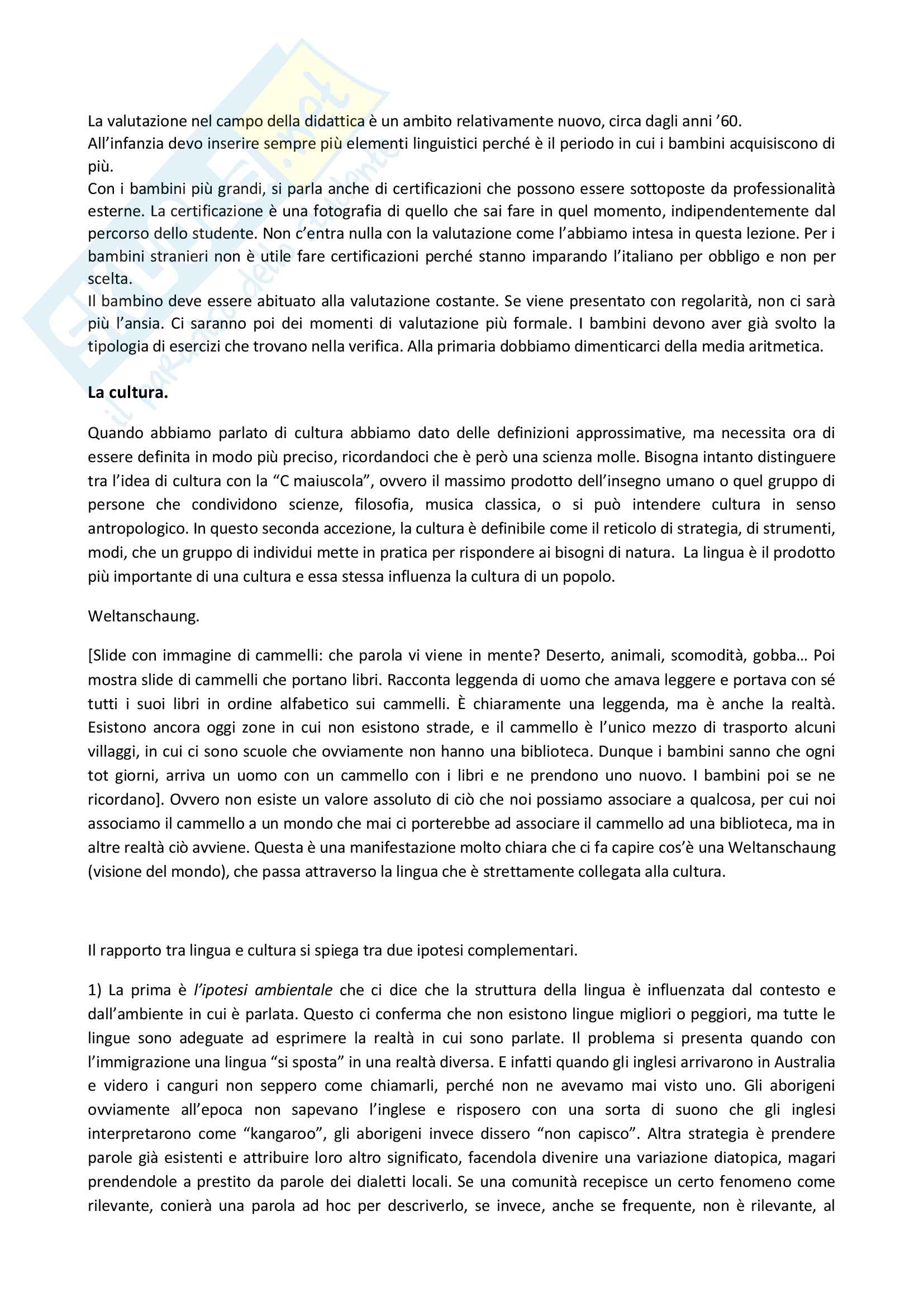 Appunti delle lezioni di Didattica dell'italiano L2 prof Santipolo Pag. 21