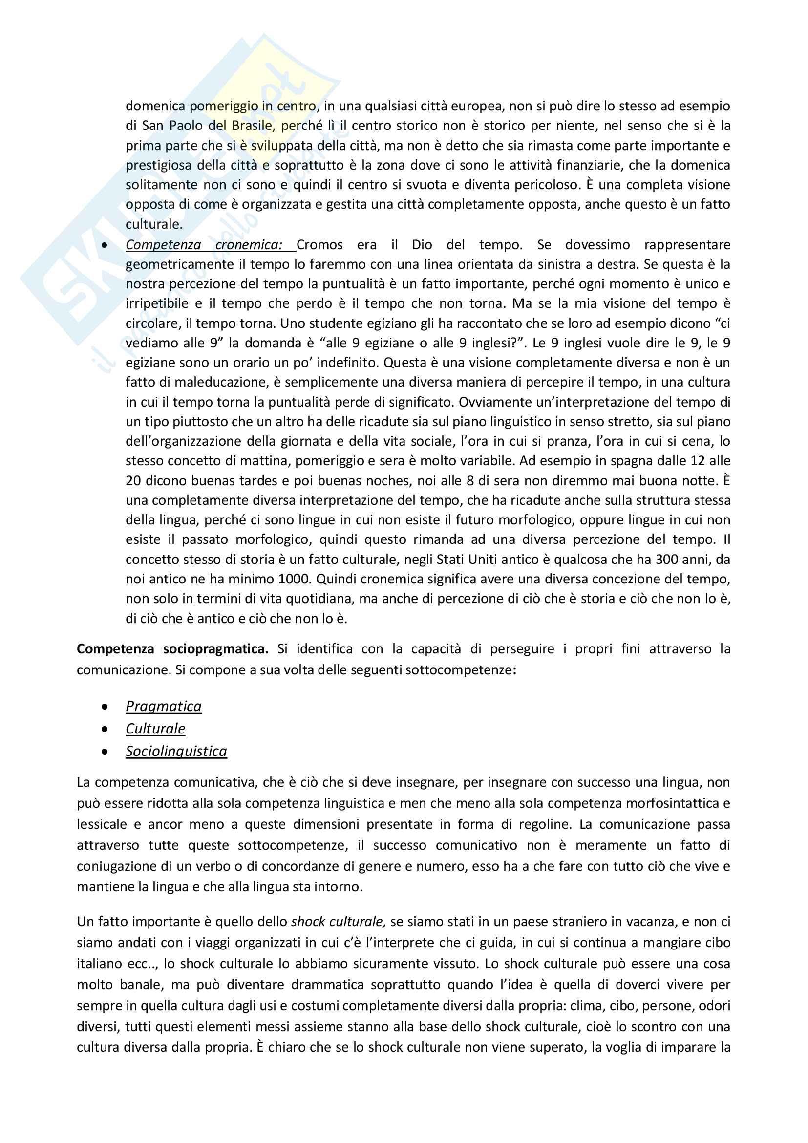 Appunti delle lezioni di Didattica dell'italiano L2 prof Santipolo Pag. 26