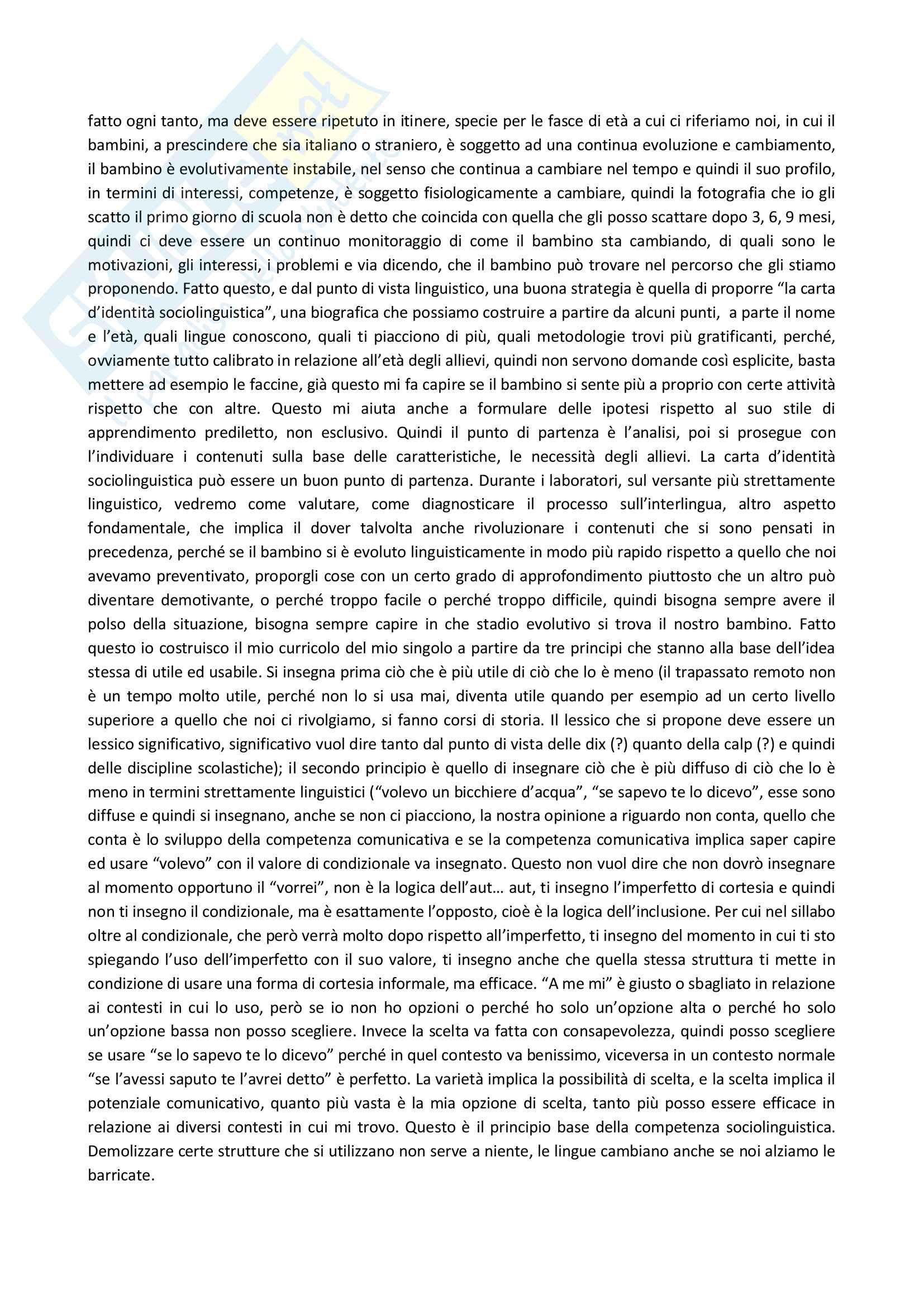 Appunti delle lezioni di Didattica dell'italiano L2 prof Santipolo Pag. 36