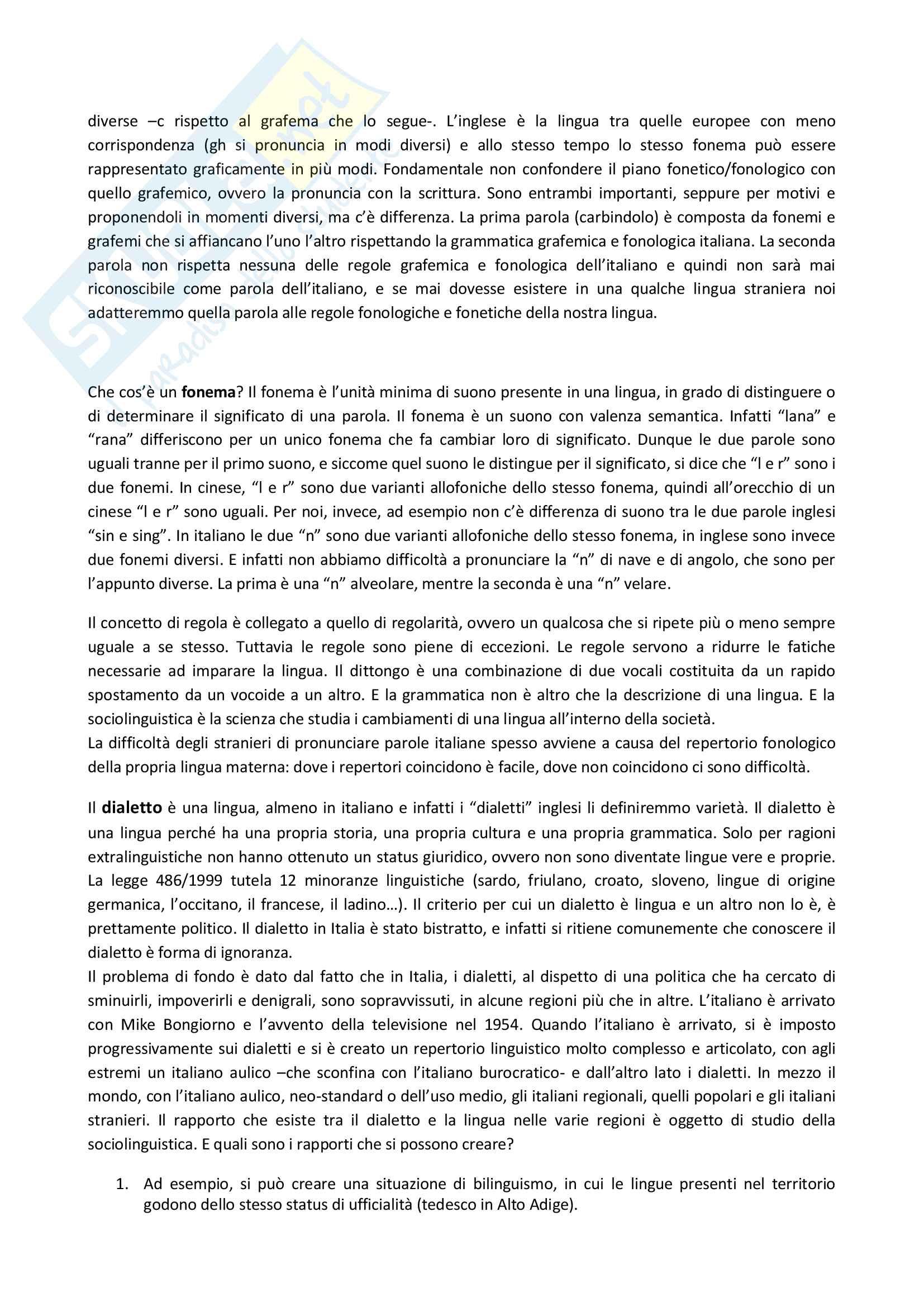 Appunti delle lezioni di Didattica dell'italiano L2 prof Santipolo Pag. 6