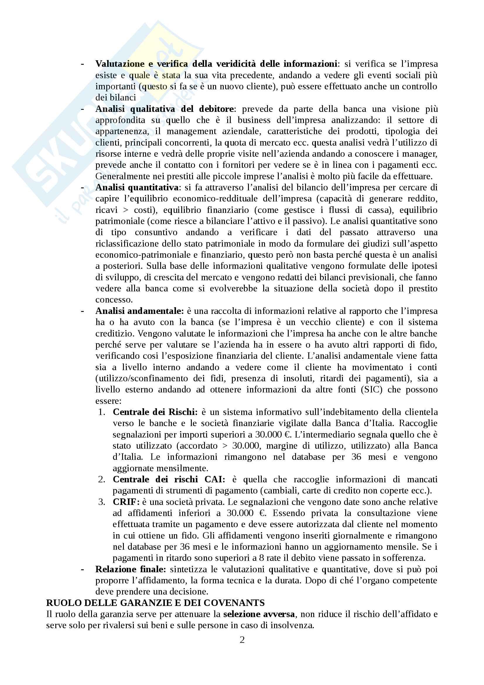 Mercati e Intermediari Finanziari (Modulo Pia) Pag. 2