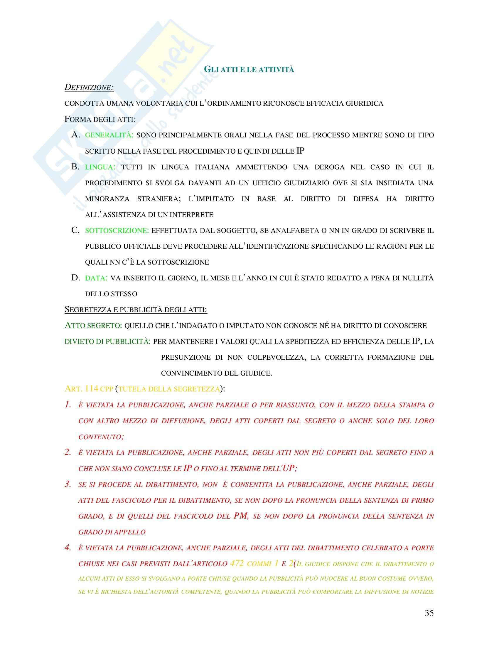 Diritto penale - gli atti e le attività