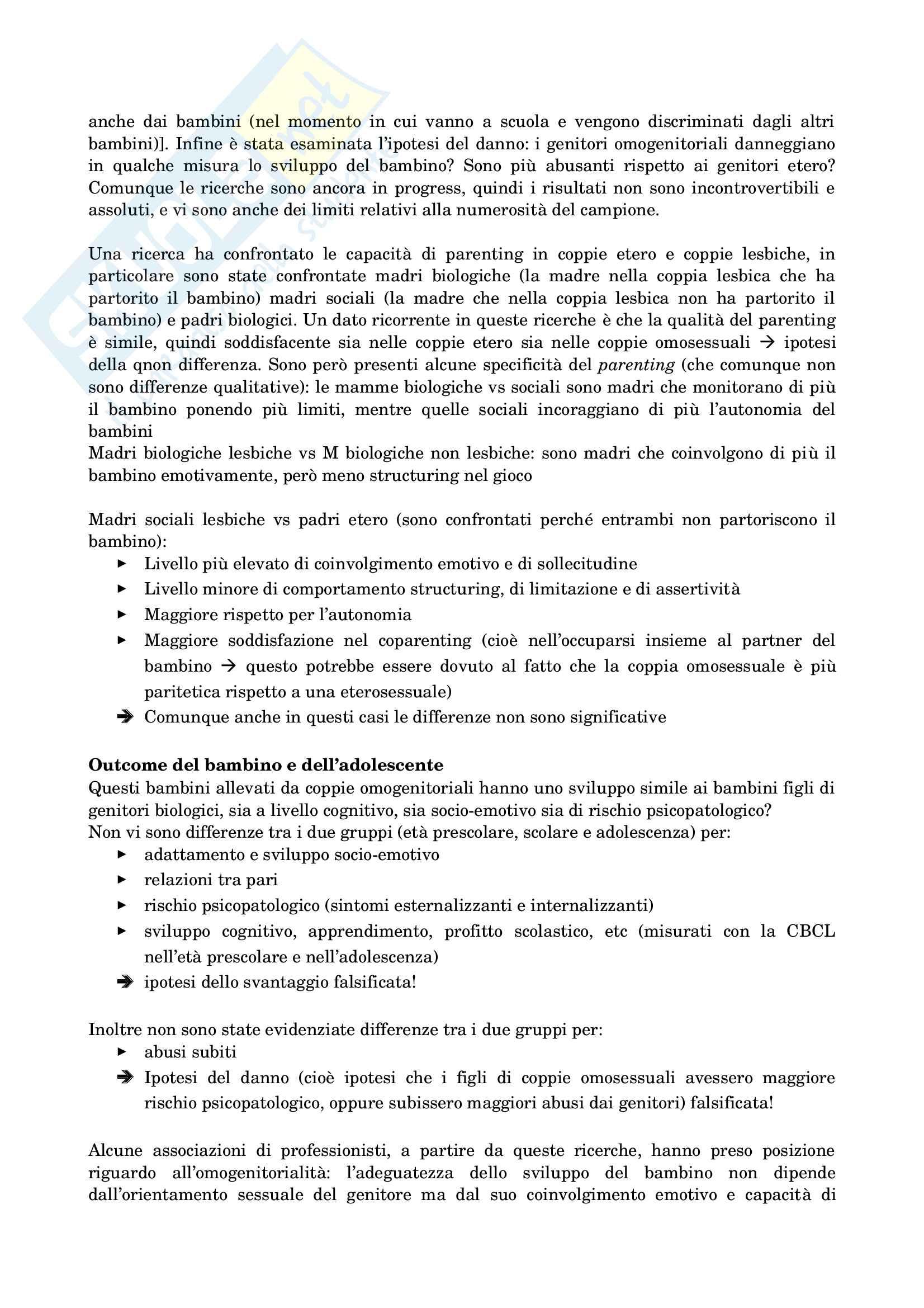 Psicologia dello sviluppo socio-affettivo Pag. 41