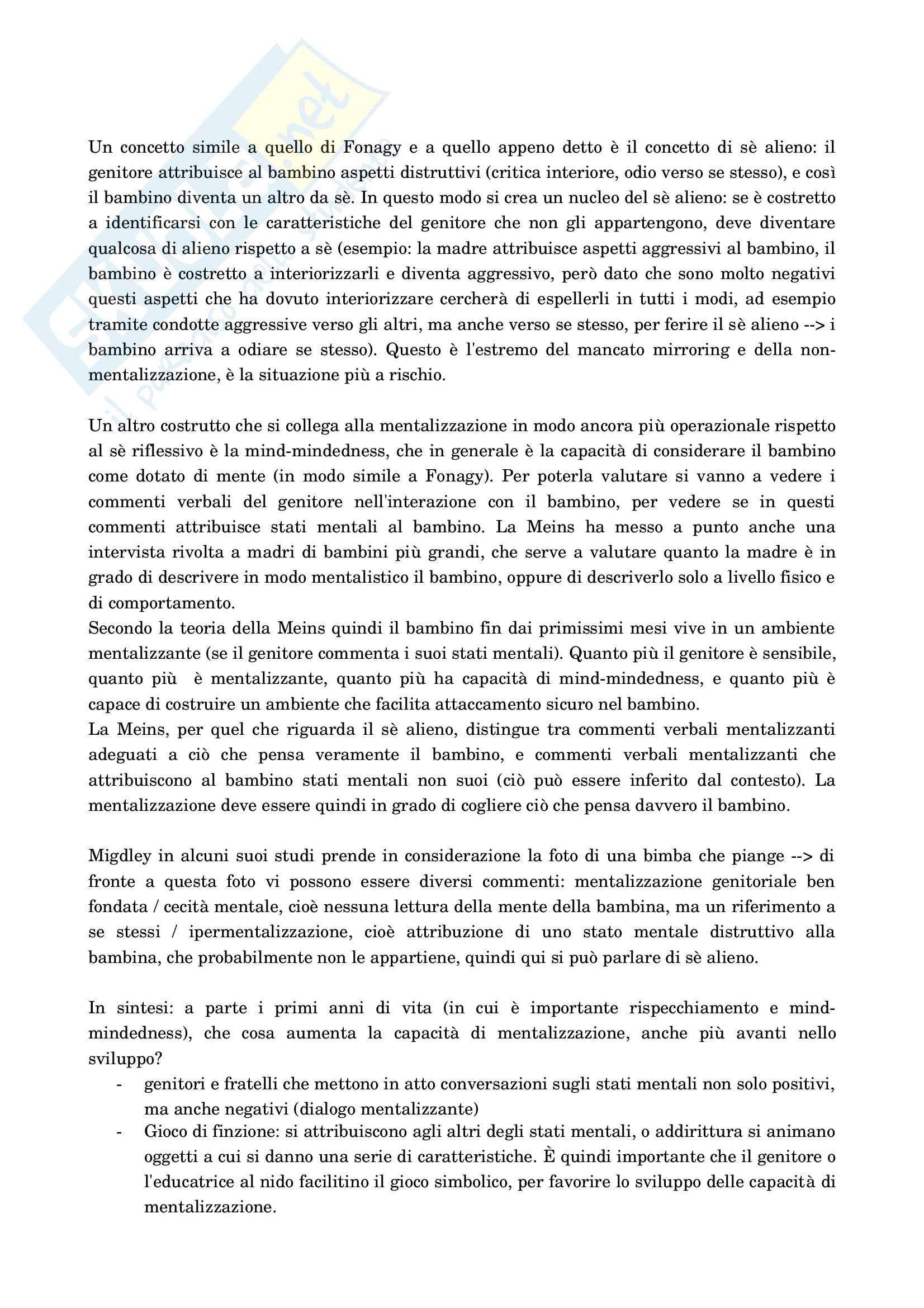 Psicologia dello sviluppo socio-affettivo Pag. 81