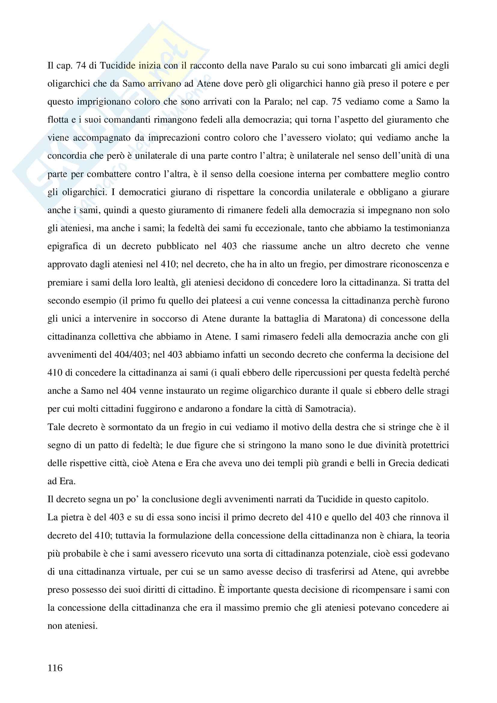 Storia greca, triennale Pag. 116