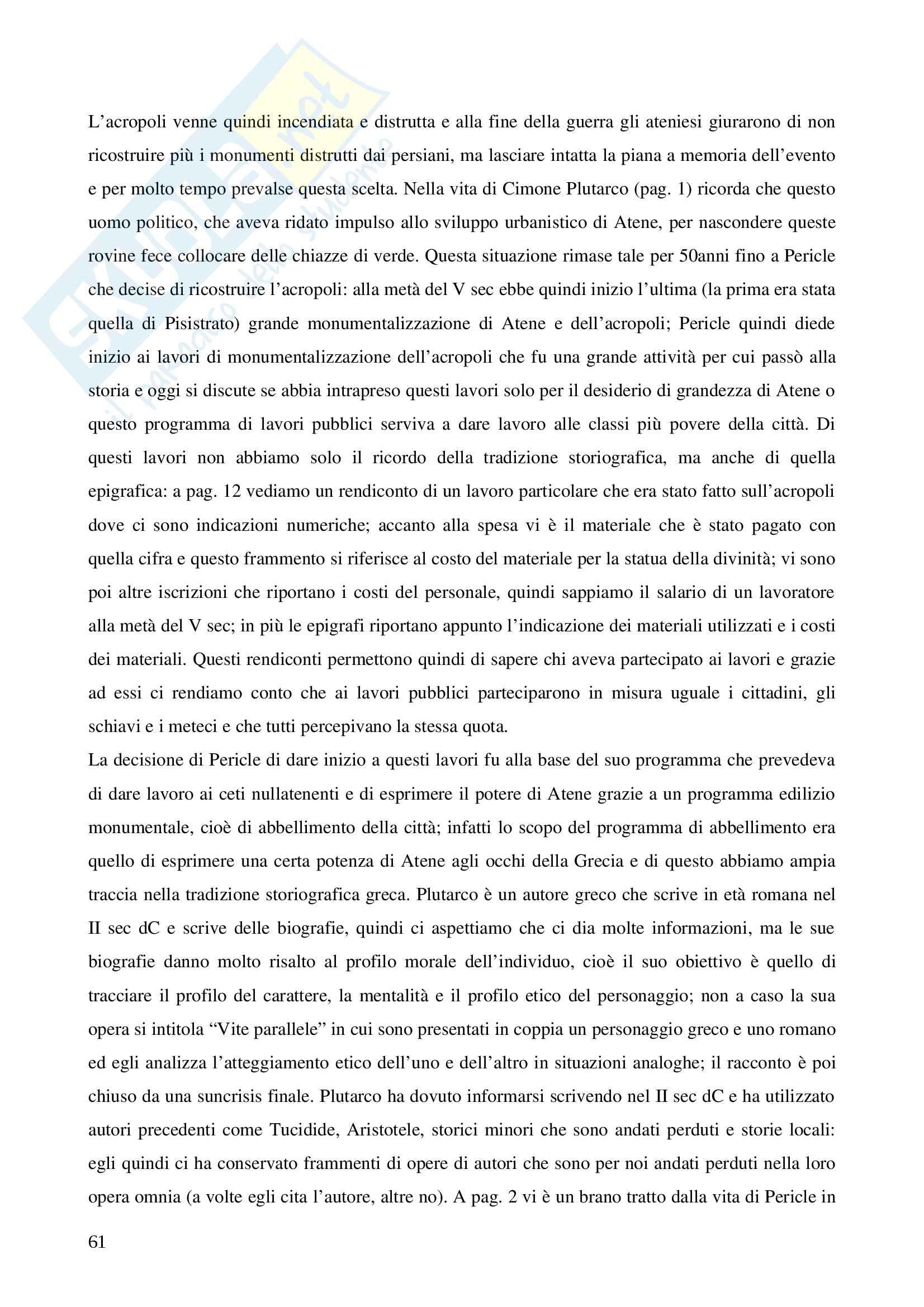 Storia greca, triennale Pag. 61