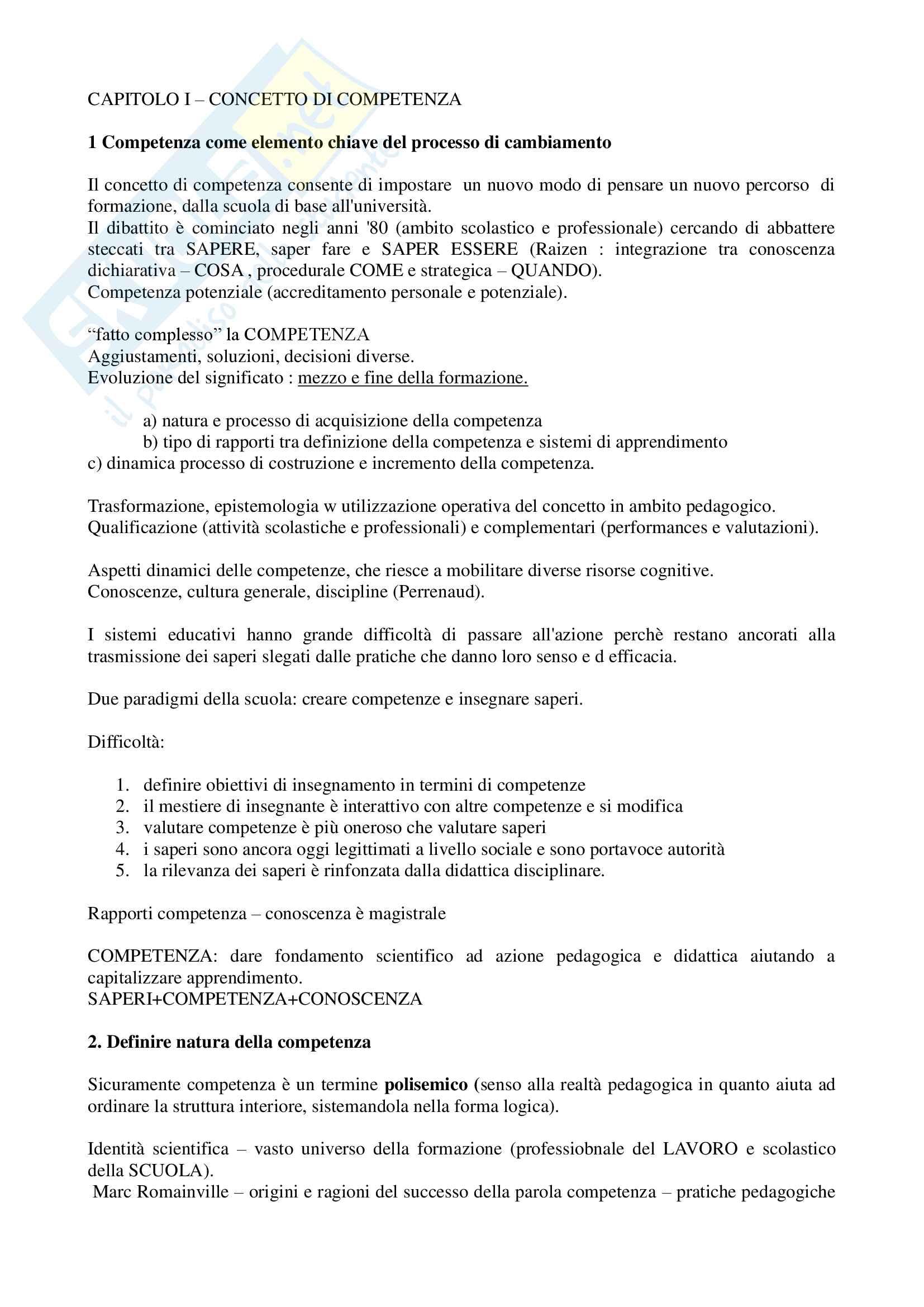 """Riassunto esame """"Pedagogia sperimentale"""", prof. Nuzzaci, libro consigliato """"Insegnare apprendere"""", Nuzzaci Antonella"""