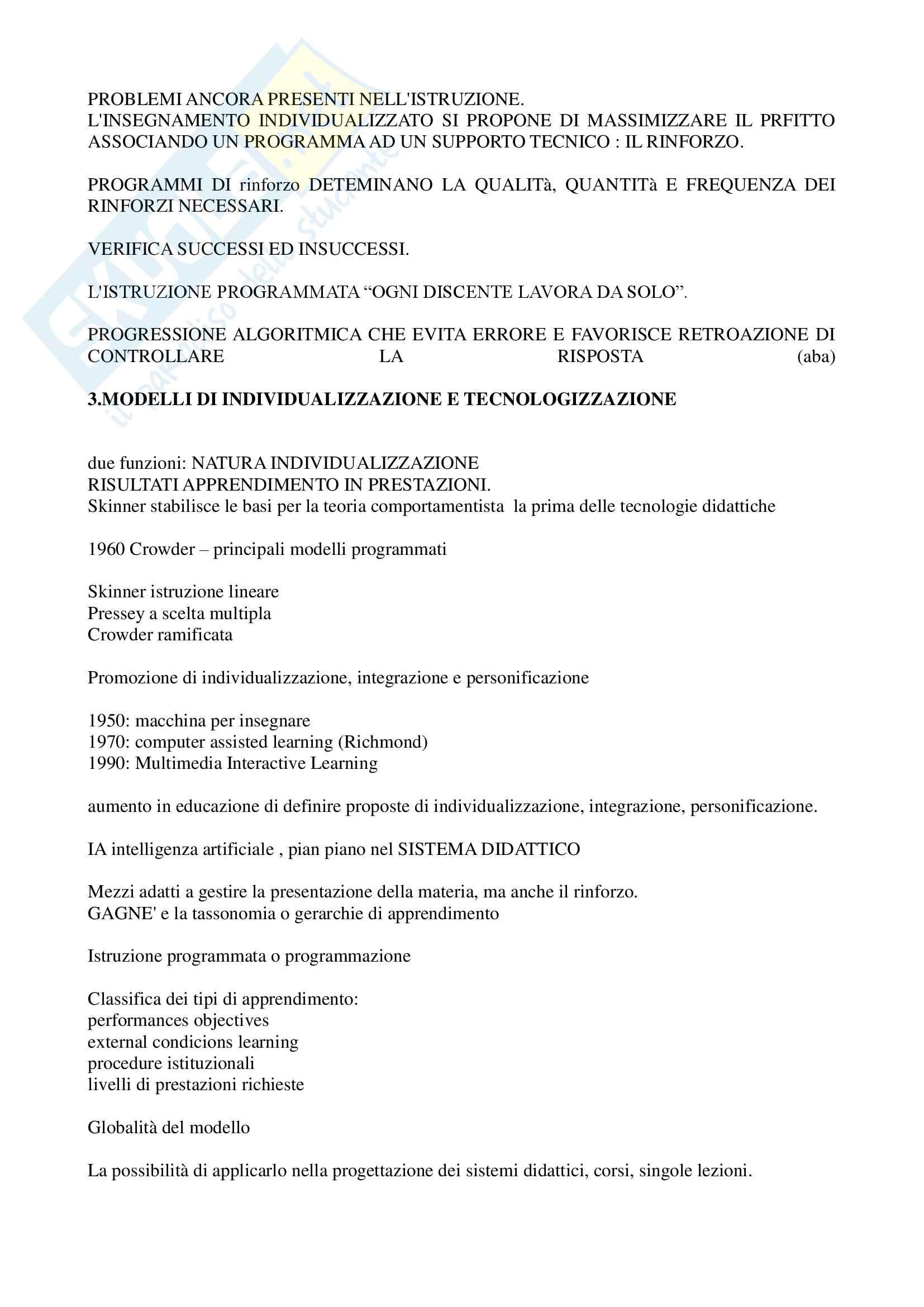 """Riassunto esame """"Pedagogia sperimentale"""", prof. Nuzzaci, libro consigliato """"Insegnare apprendere"""", Nuzzaci Antonella Pag. 11"""
