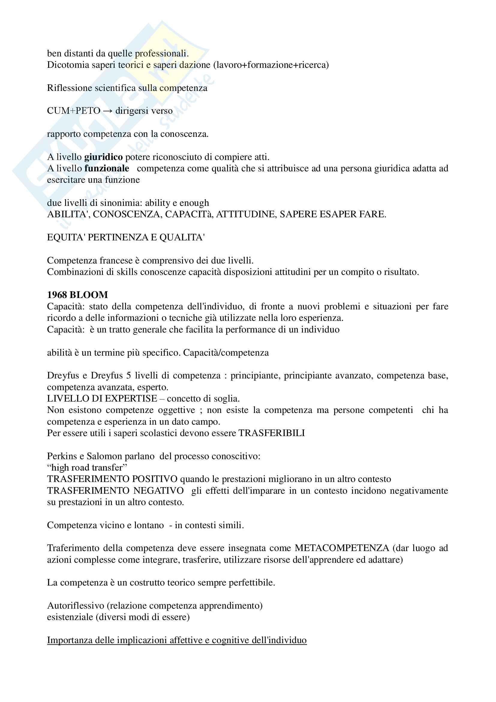 """Riassunto esame """"Pedagogia sperimentale"""", prof. Nuzzaci, libro consigliato """"Insegnare apprendere"""", Nuzzaci Antonella Pag. 2"""
