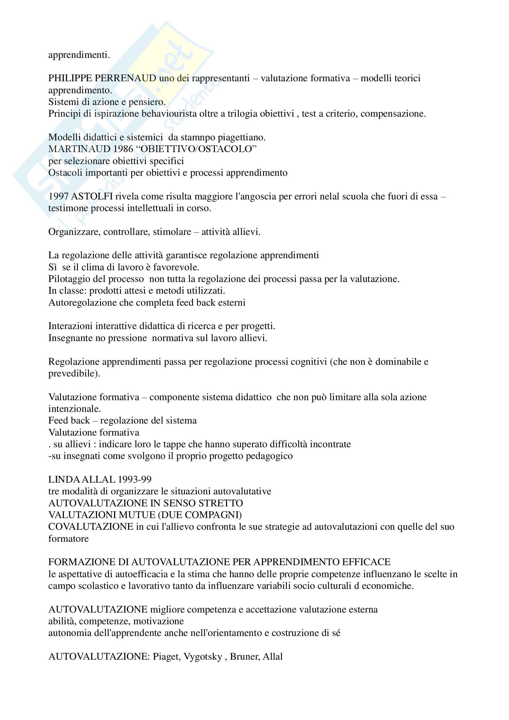 """Riassunto esame """"Pedagogia sperimentale"""", prof. Nuzzaci, libro consigliato """"Insegnare apprendere"""", Nuzzaci Antonella Pag. 21"""