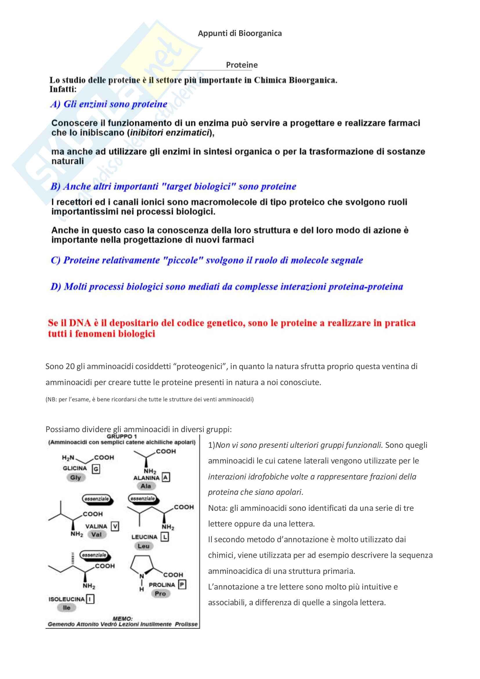 Appunti di bioorganica