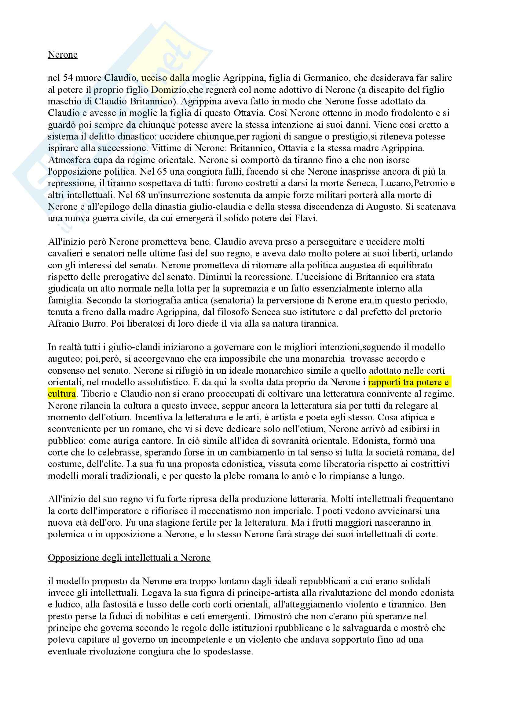 Letteratura latina - Età di Nerone