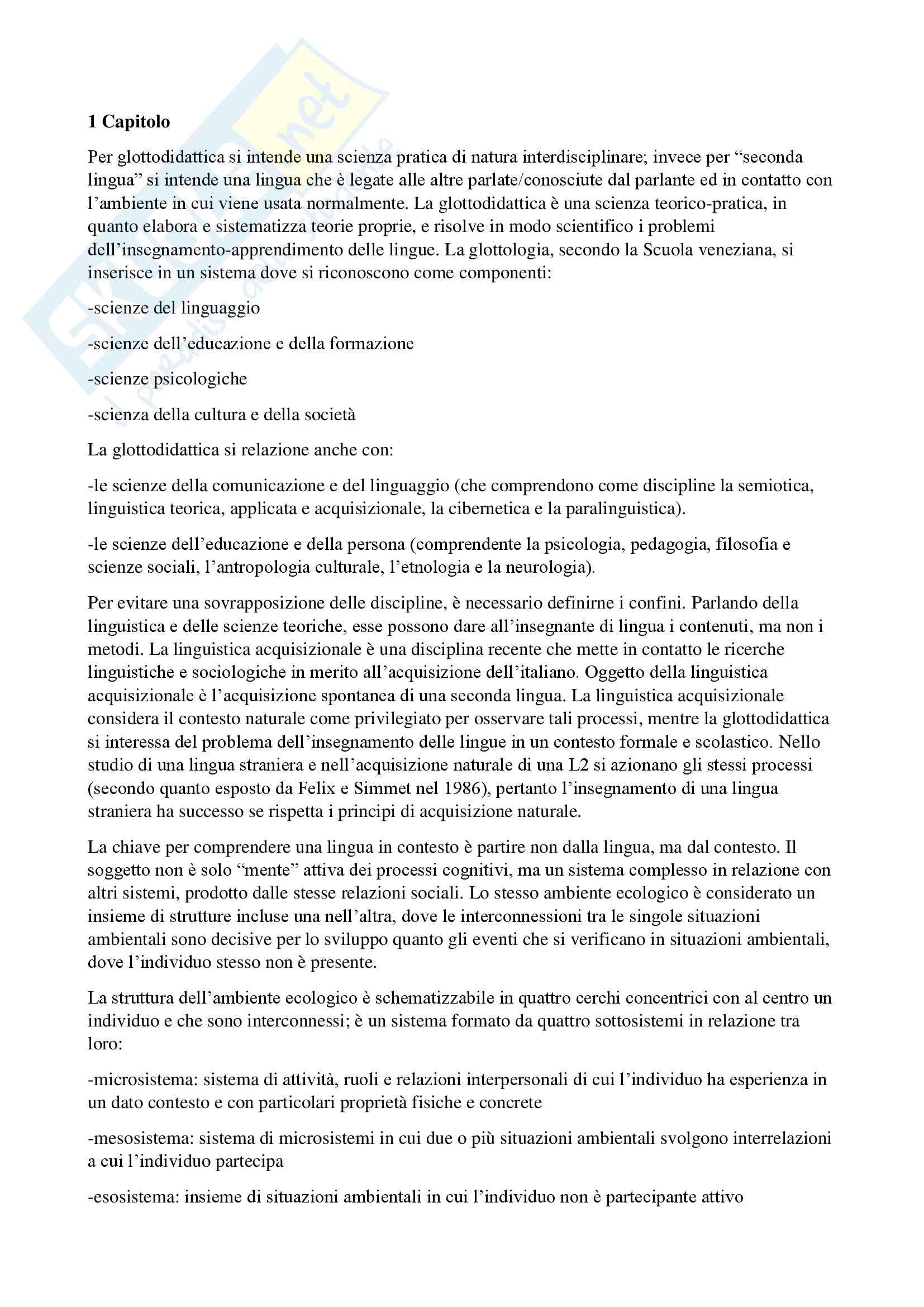 Riassunto per il corso di Didattica della lingua italiana per stranieri, prof.Maria Cecilia Luise, testo consigliato Italiano come lingua seconda. Elementi di didattica di Maria Cecilia Luise.