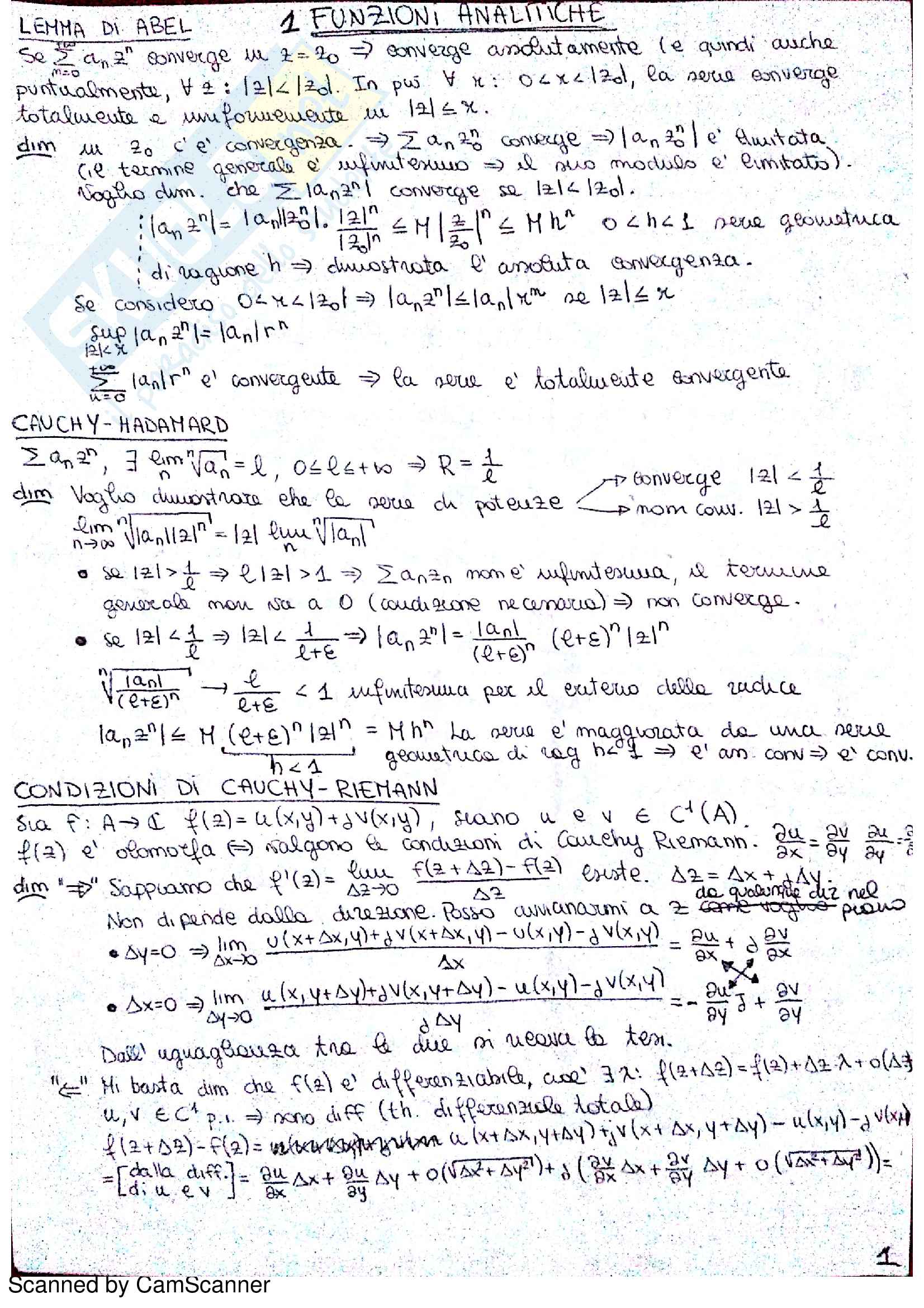 Appunti Metodi Matematici (Nitsch)