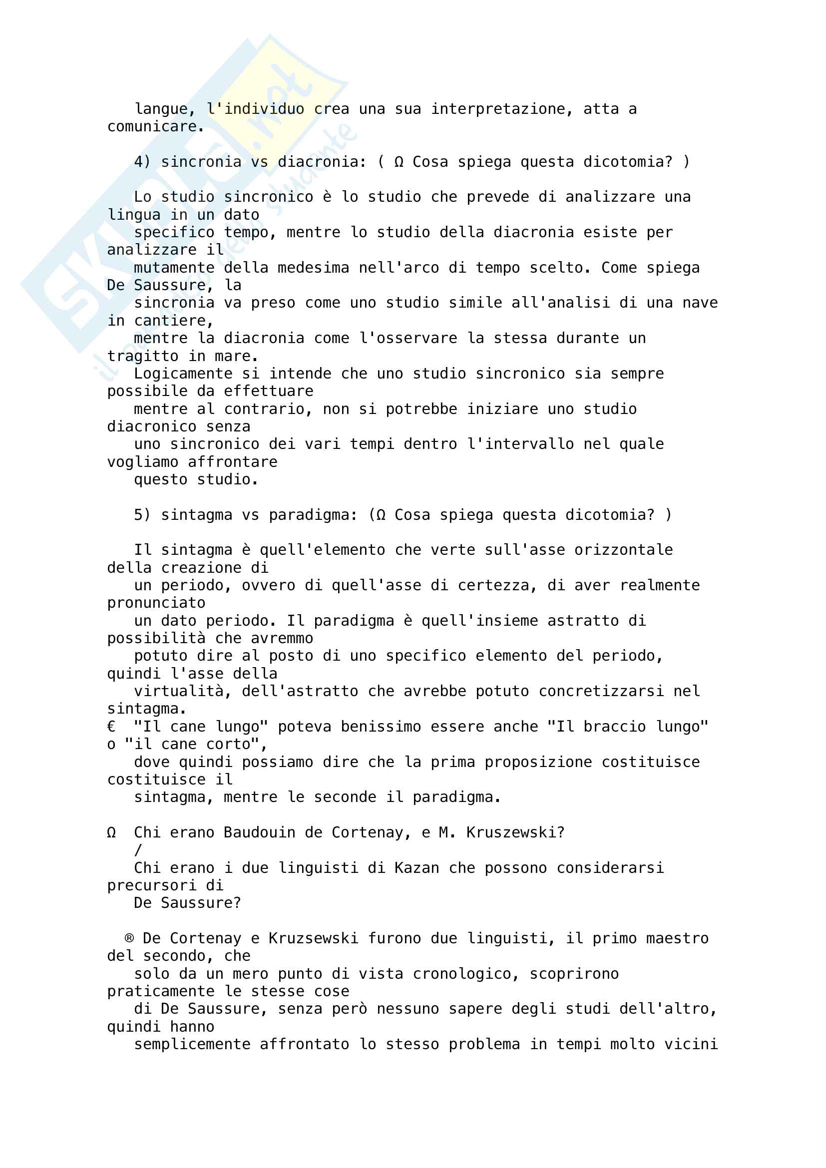 Linguistica Generale - Appunti e domande Pag. 6