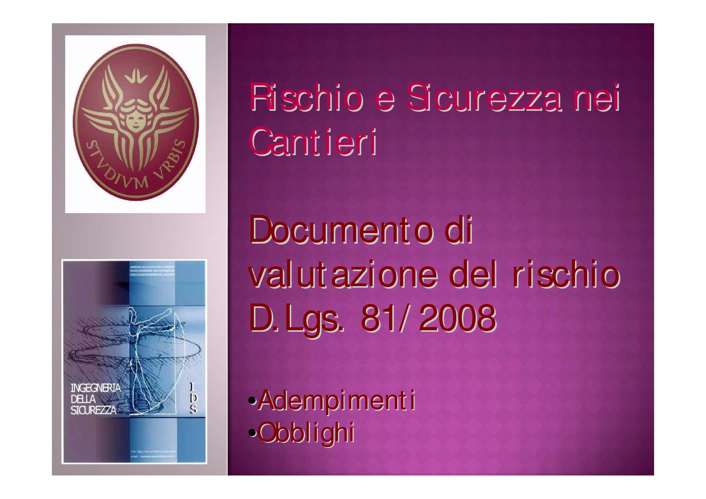 Documento di Valutazione del Rischio - DVR
