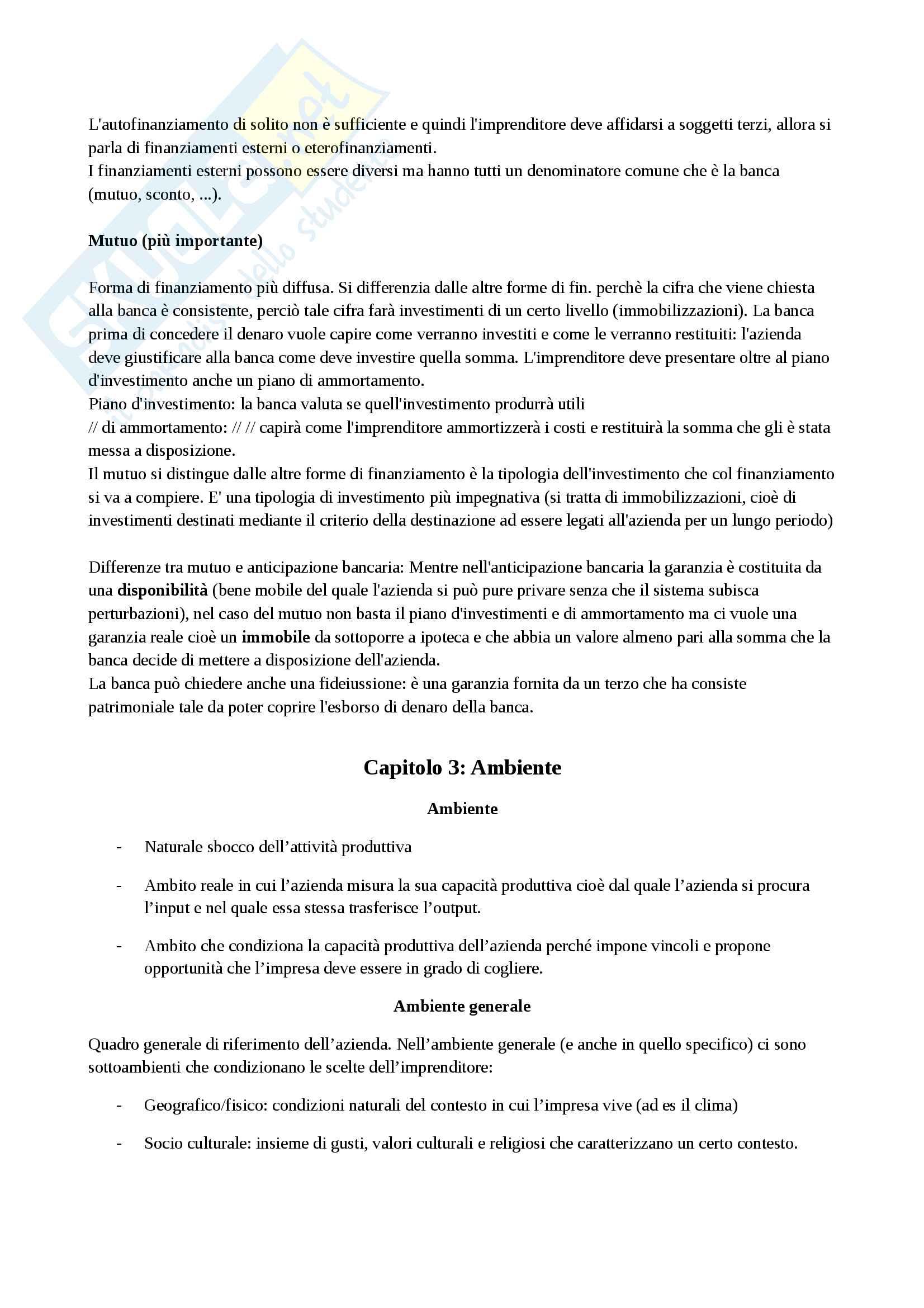 Riassunto esame organizzazione aziendale, prof. Guzzo, libro consigliato Appunti di economia aziendale, Cavalieri Enrico, Ranalli Francesco Pag. 11