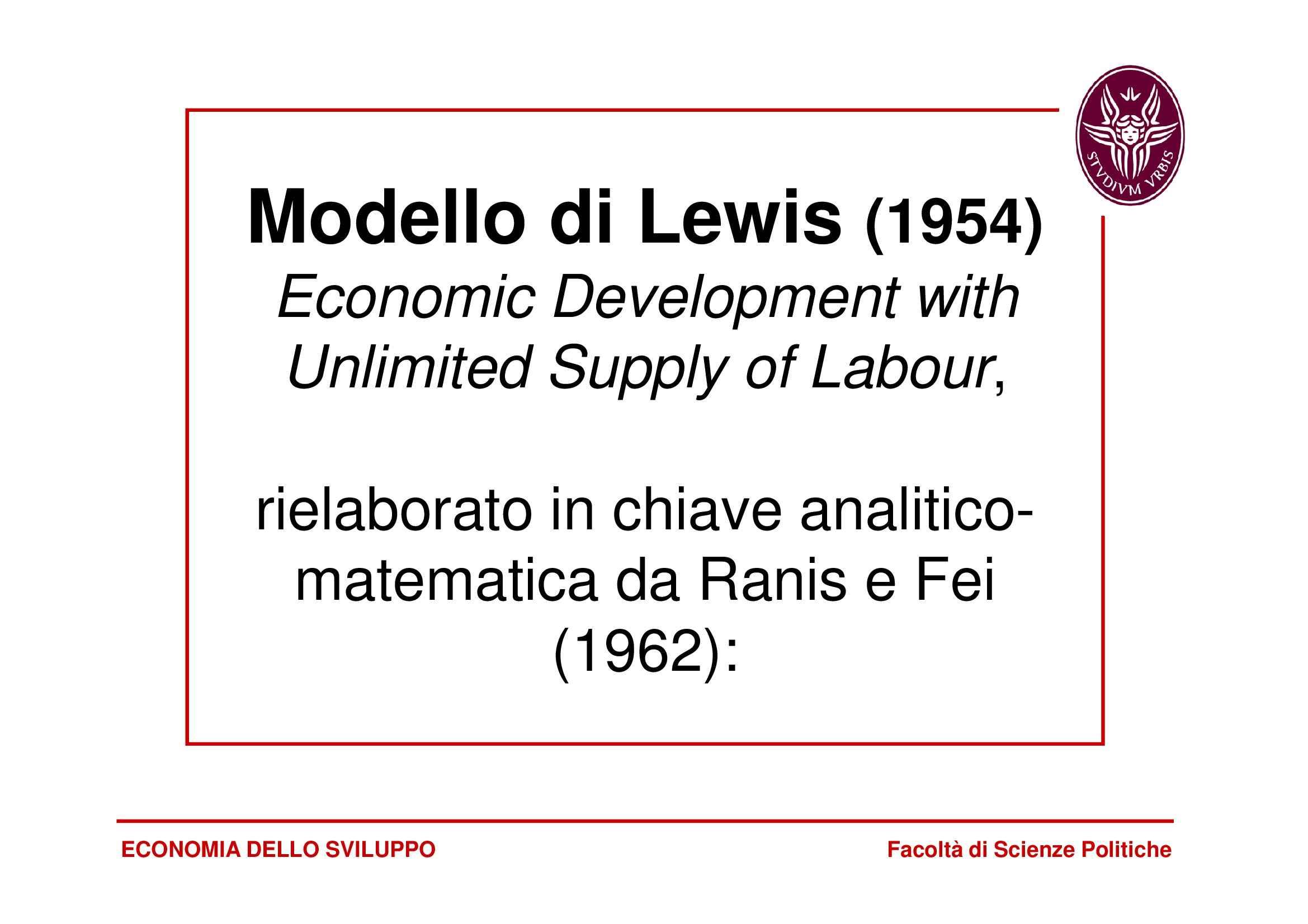 Lewis - Modello