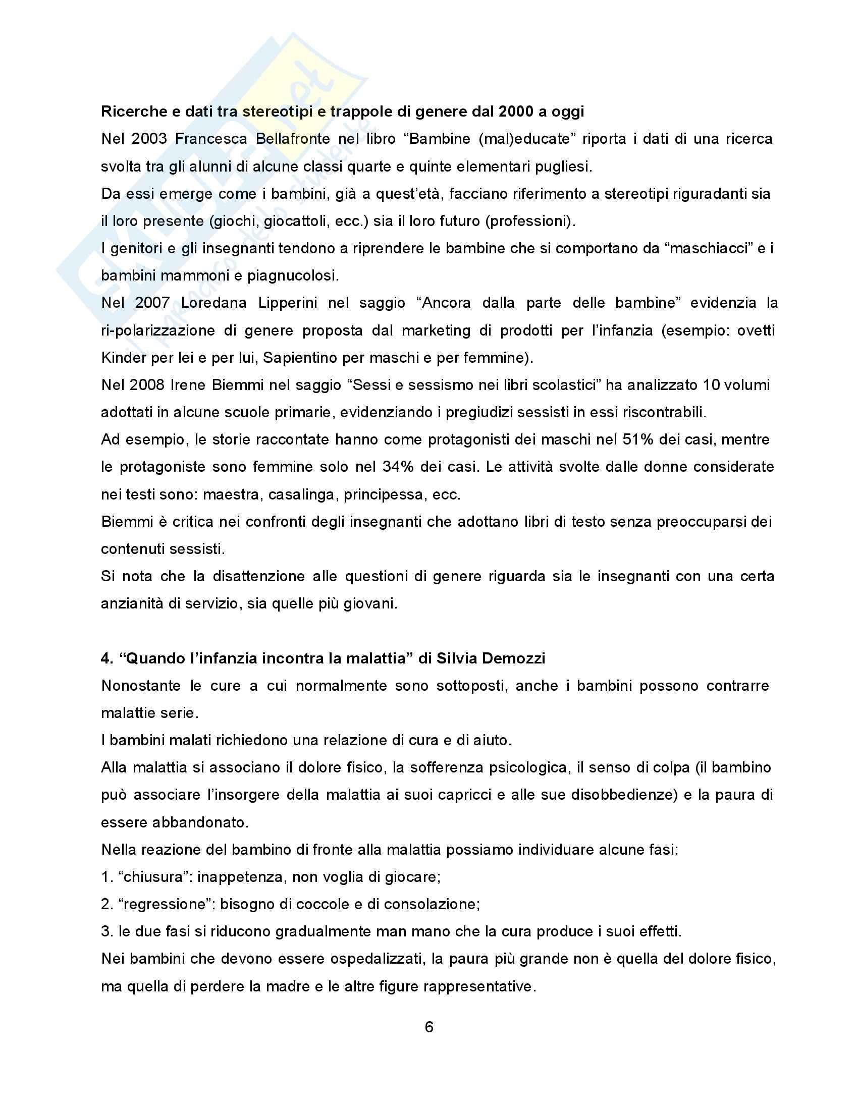 Riassunto esame Pedagogia della Famiglia, prof. Formenti, libro consigliato Molte Infanzie, Molte Famiglie, Contini Pag. 6