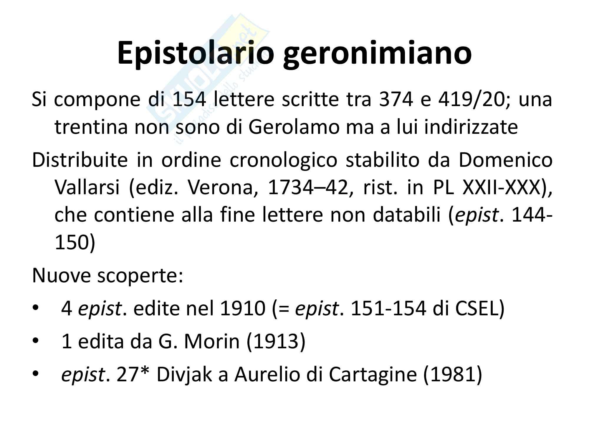 Epistolario San Gerolamo, lettera XXII ad Eustochio, Discorso sulla verginità, vita e filosofia.