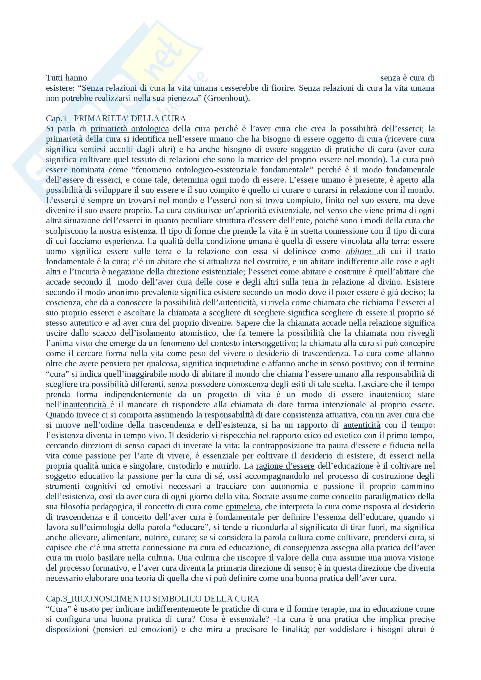 appunto V. Mazzoni Teorie e metodi dell'educazione