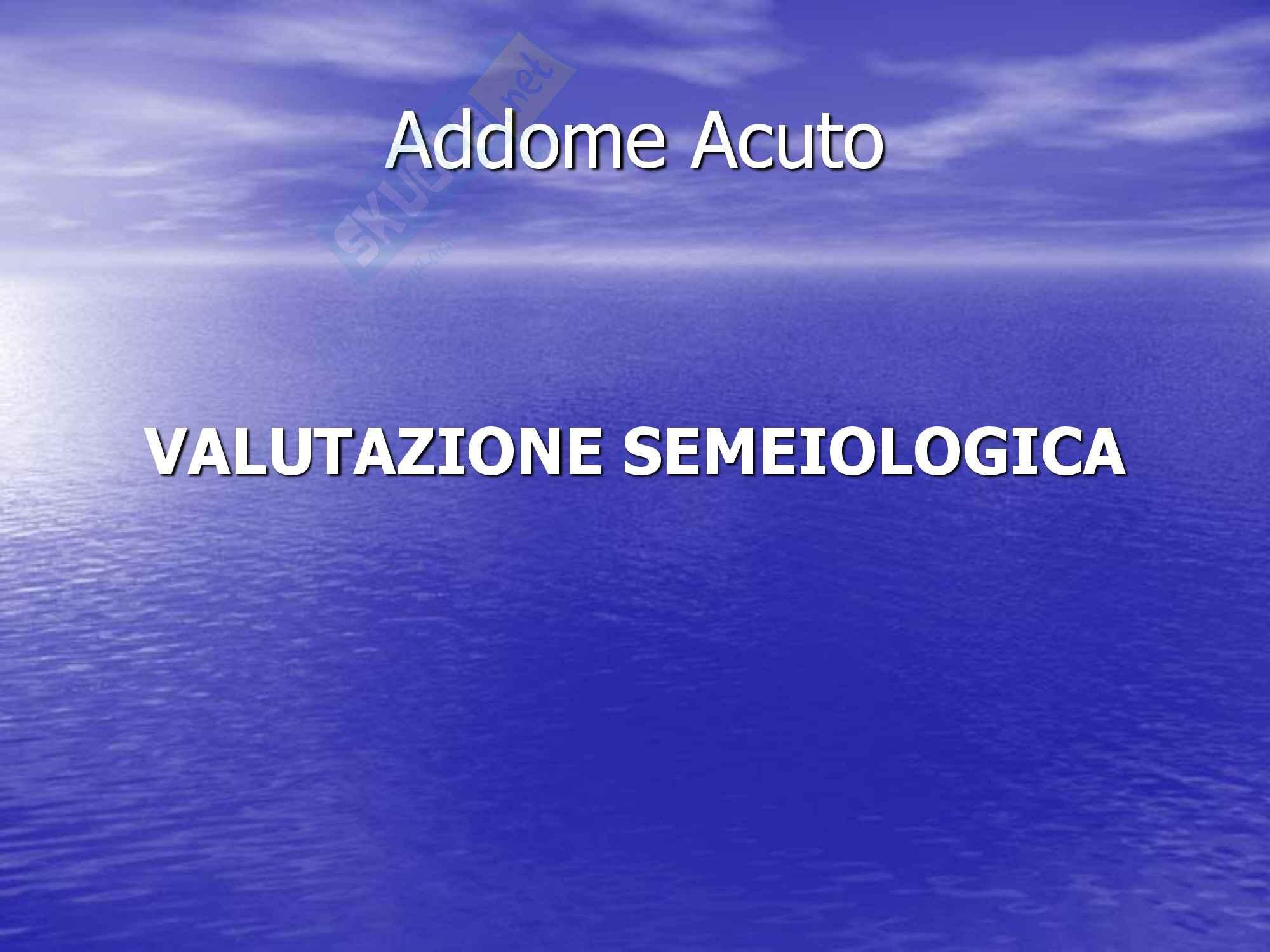 Chirurgia dell'apparato digerente - Addome Acuto, Diagnosi e Terapia