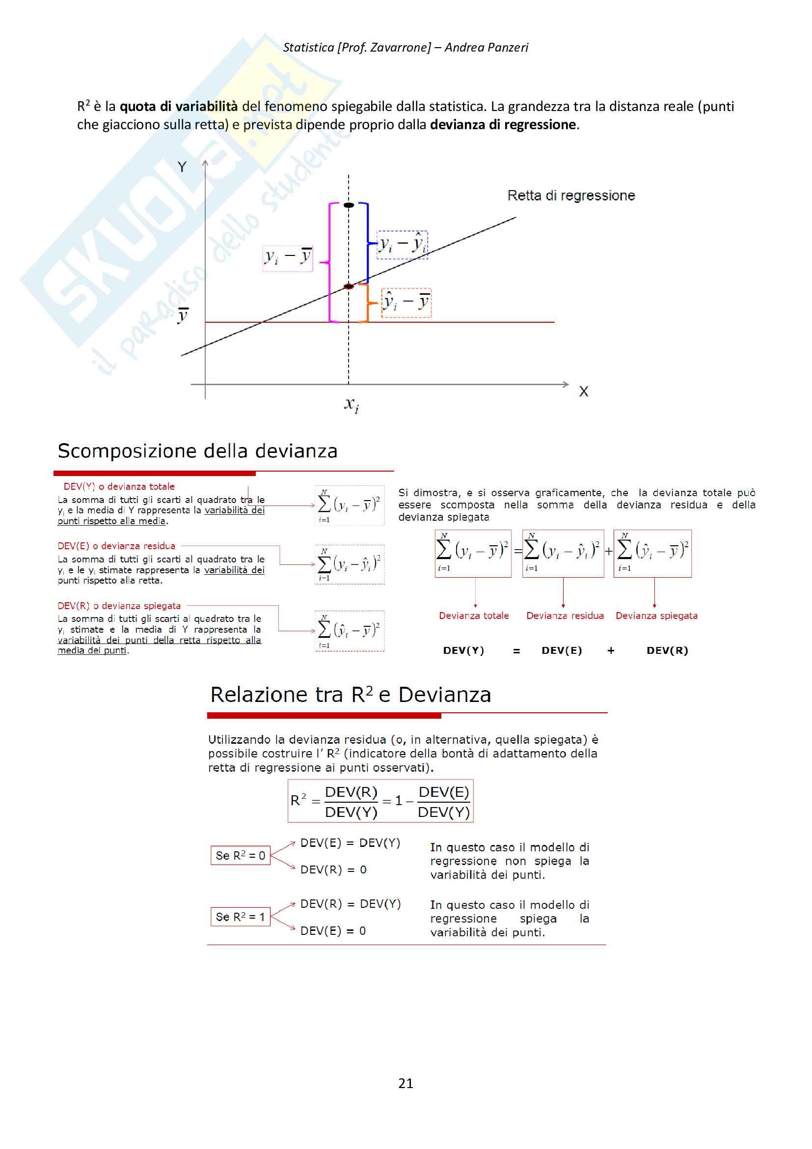 Riassunto esame Statistica prof.Zavarrone Pag. 21