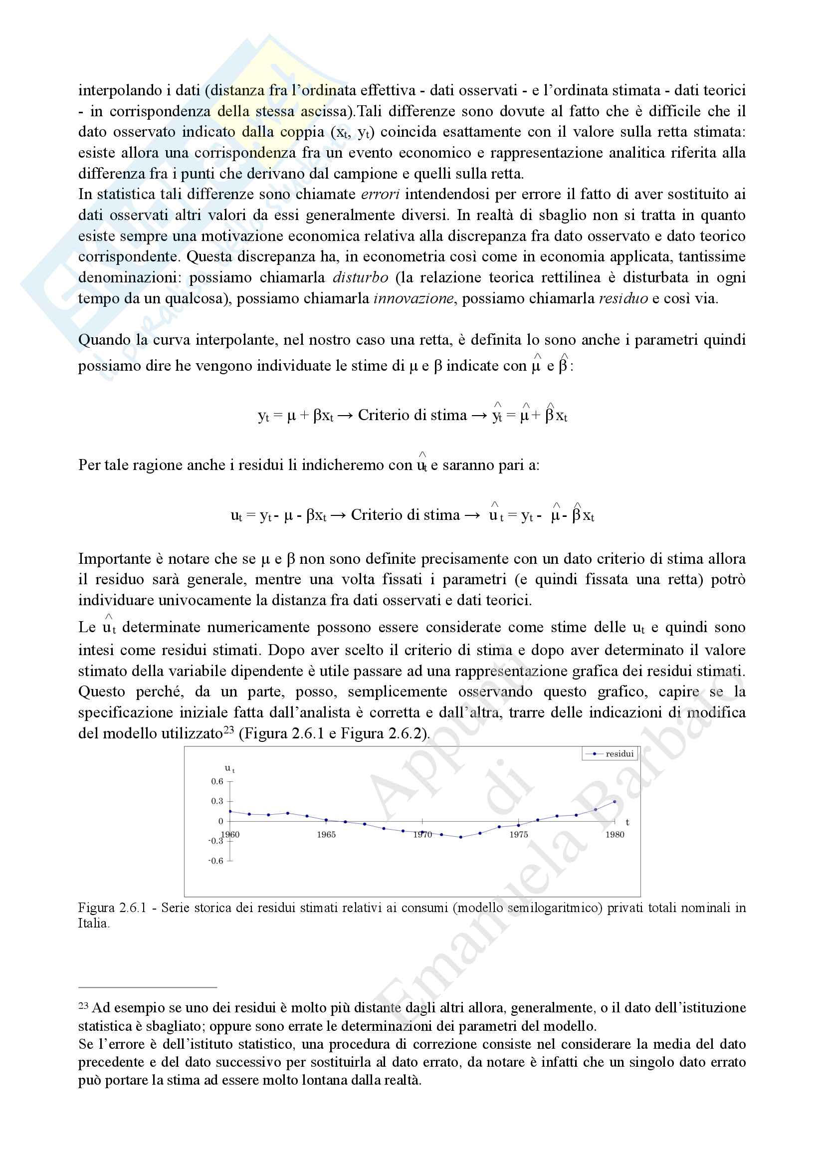 Appunti di Econometria Pag. 21